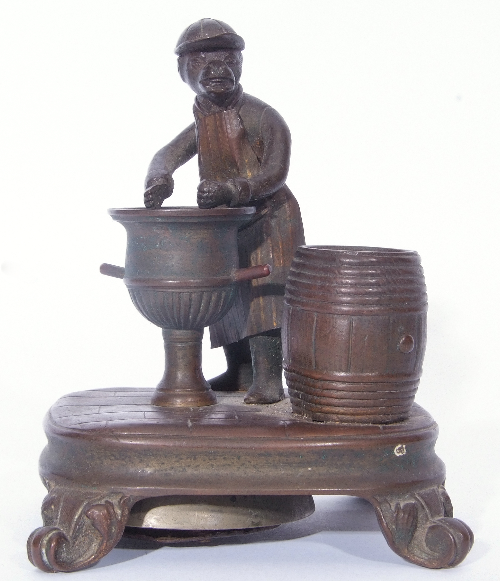 Antique bronze desk bell, a model of a monkey - Image 2 of 11
