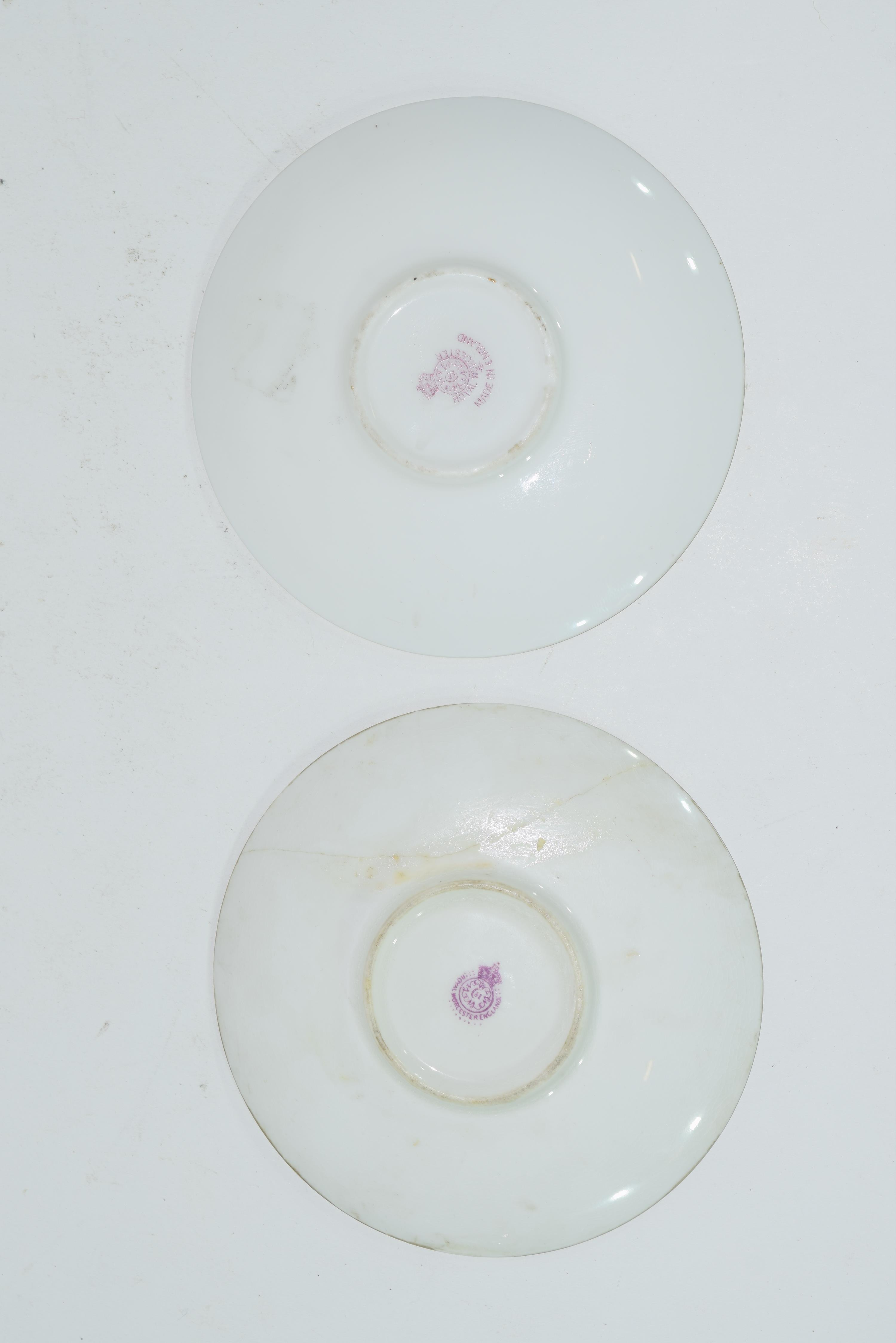 Two Royal Worcester saucers - Image 3 of 9