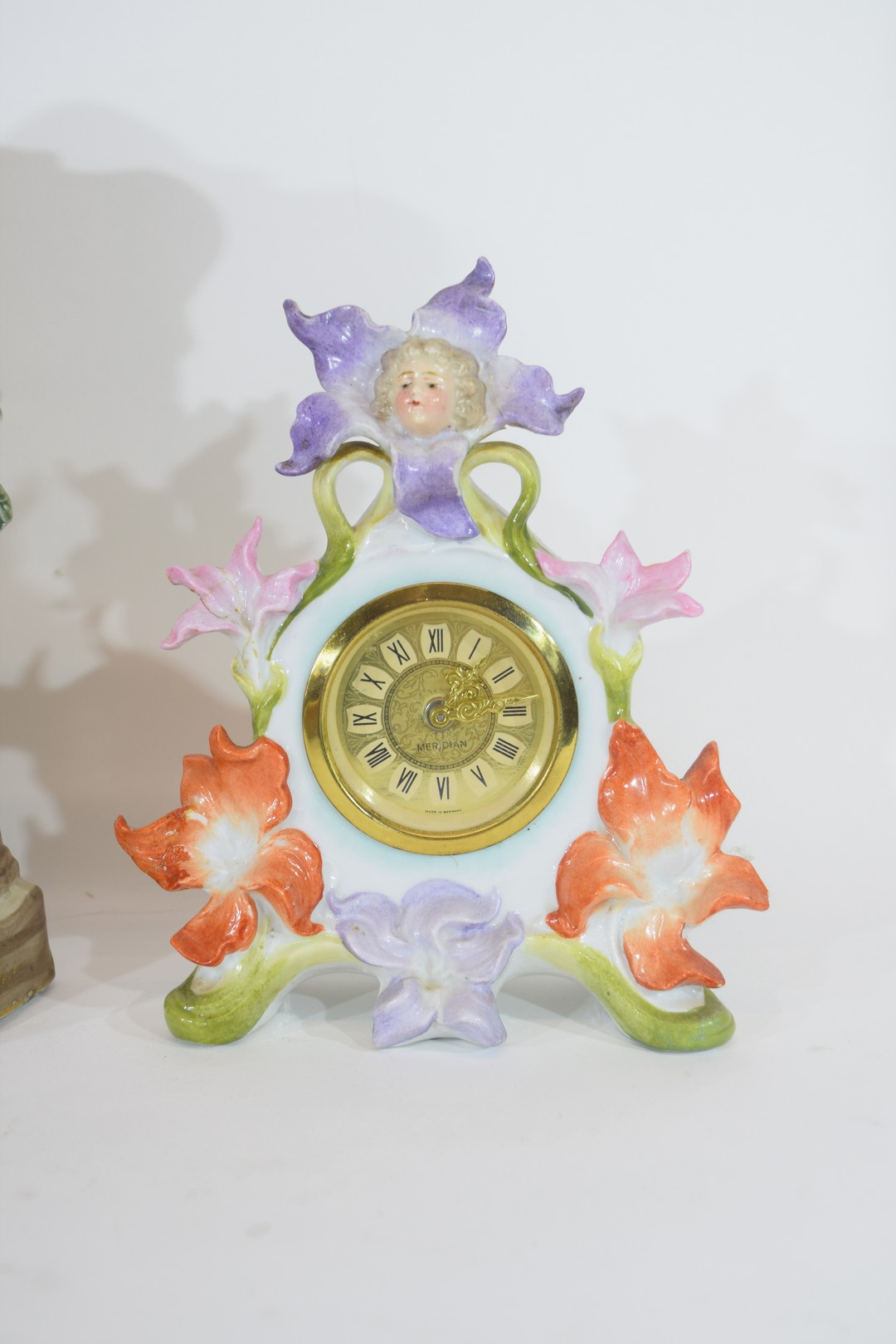 Three examples of Continental porcelain clock mantel cases - Image 3 of 9
