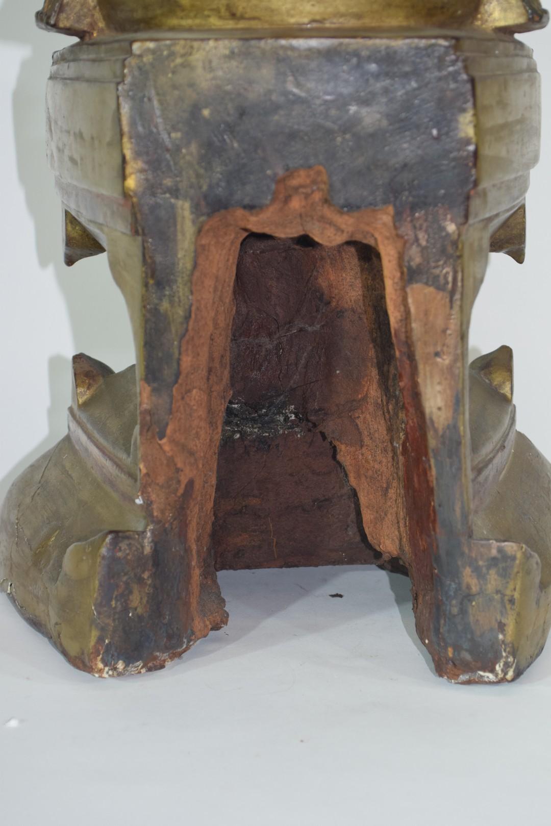 Wooden model of Maitreya - Image 7 of 8