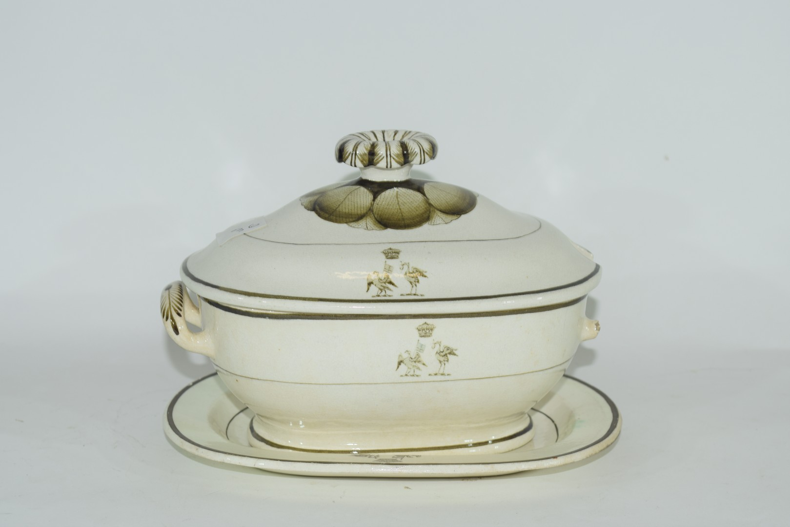 Late 18th century Rogers pearlware small tureen - Image 3 of 6