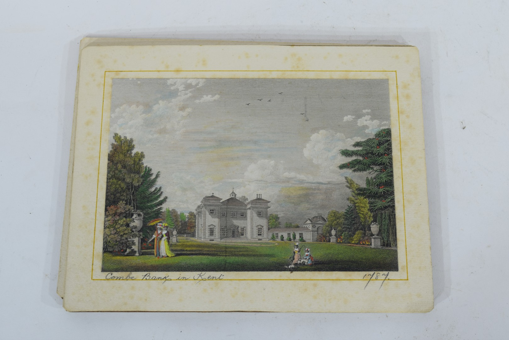Group of four cards with coloured prints of stately homes - Image 2 of 4