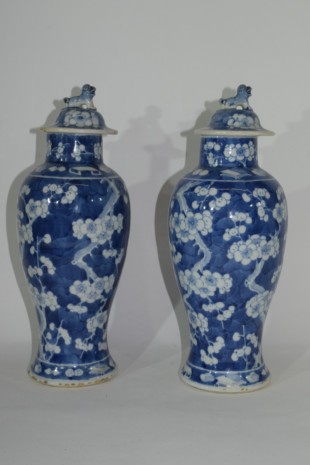 Pair of 19th century Chinese porcelain vases and covers - Image 3 of 9