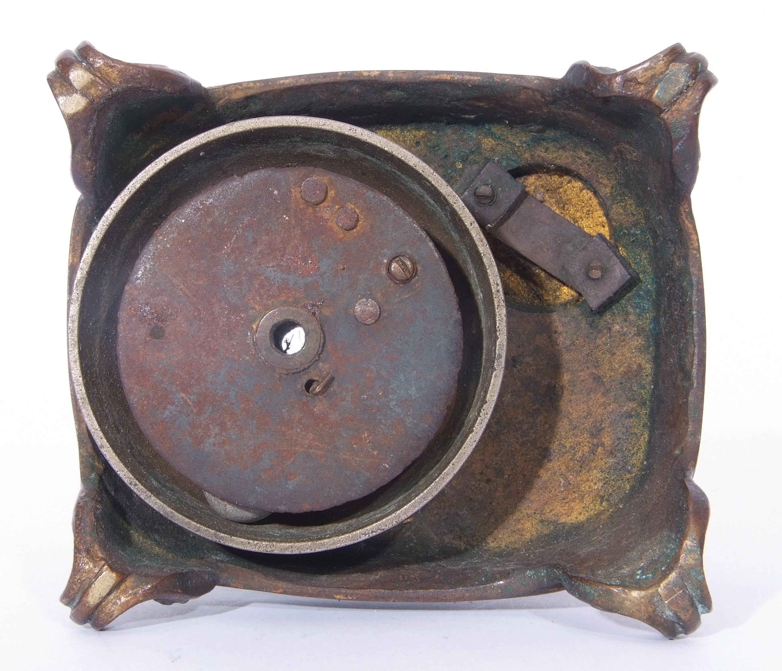 Antique bronze desk bell, a model of a monkey - Image 3 of 11