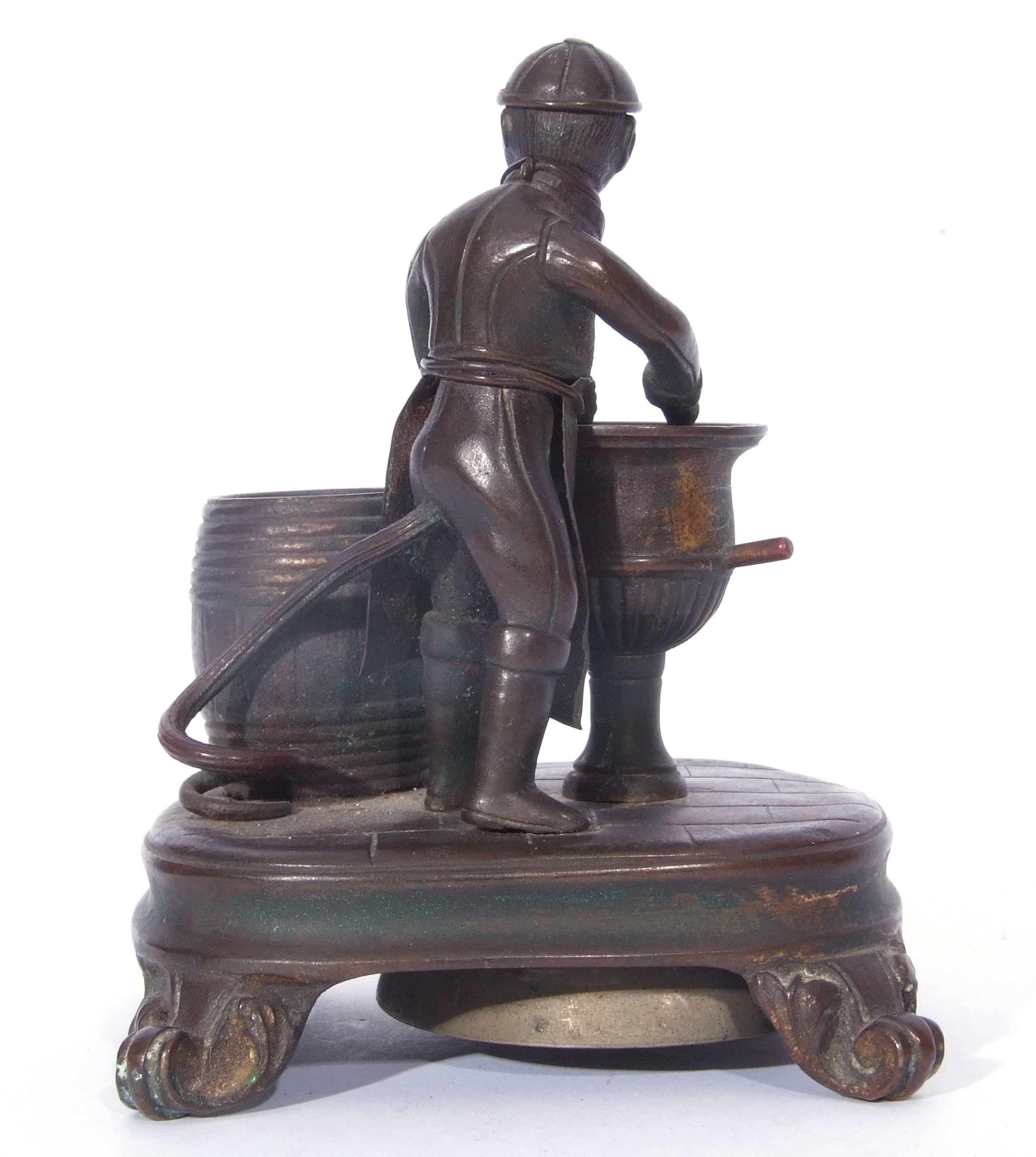 Antique bronze desk bell, a model of a monkey - Image 5 of 11