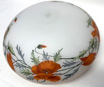 A large early 20th century glass light shade.