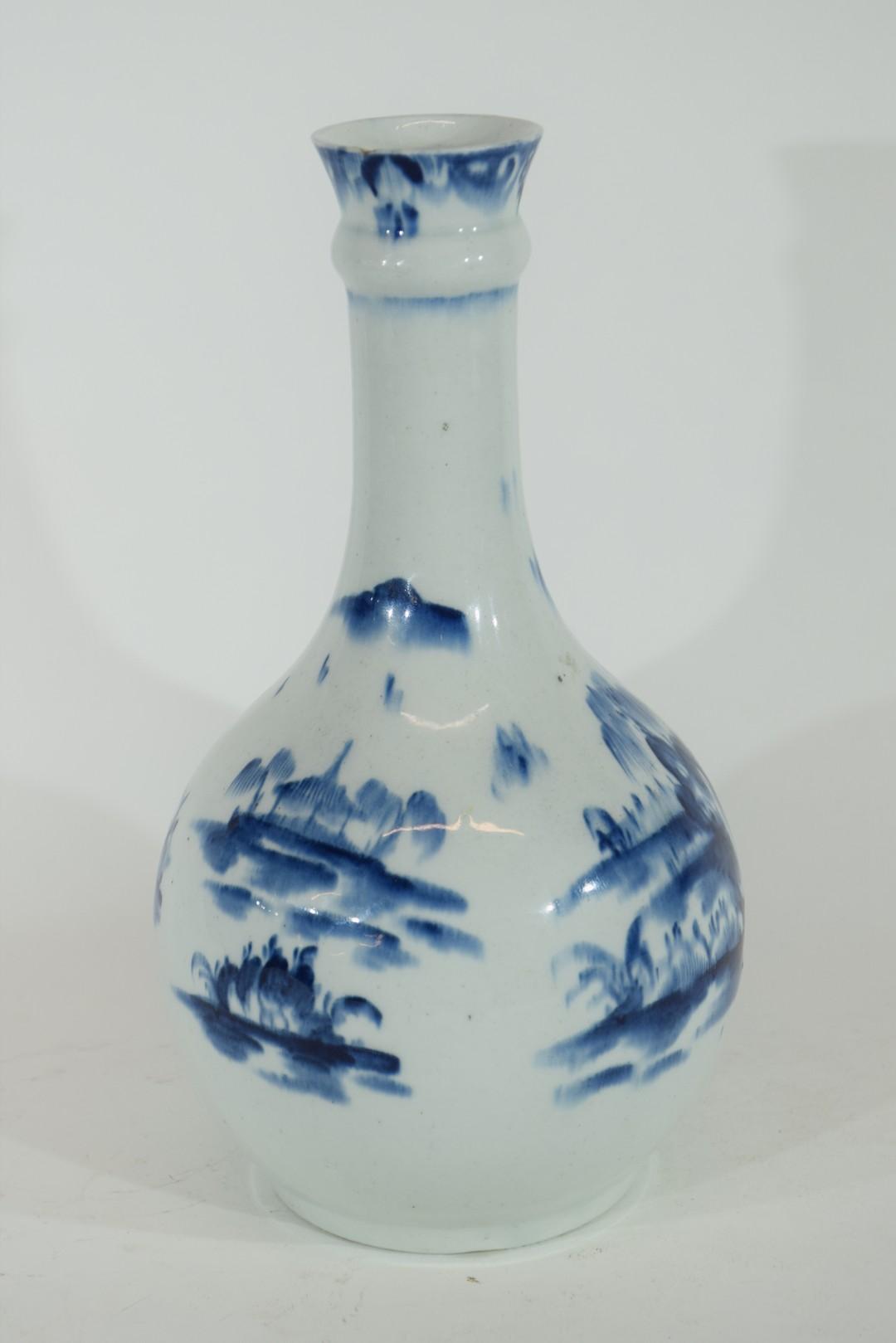 Lowestoft porcelain guglet or water bottle - Image 4 of 7