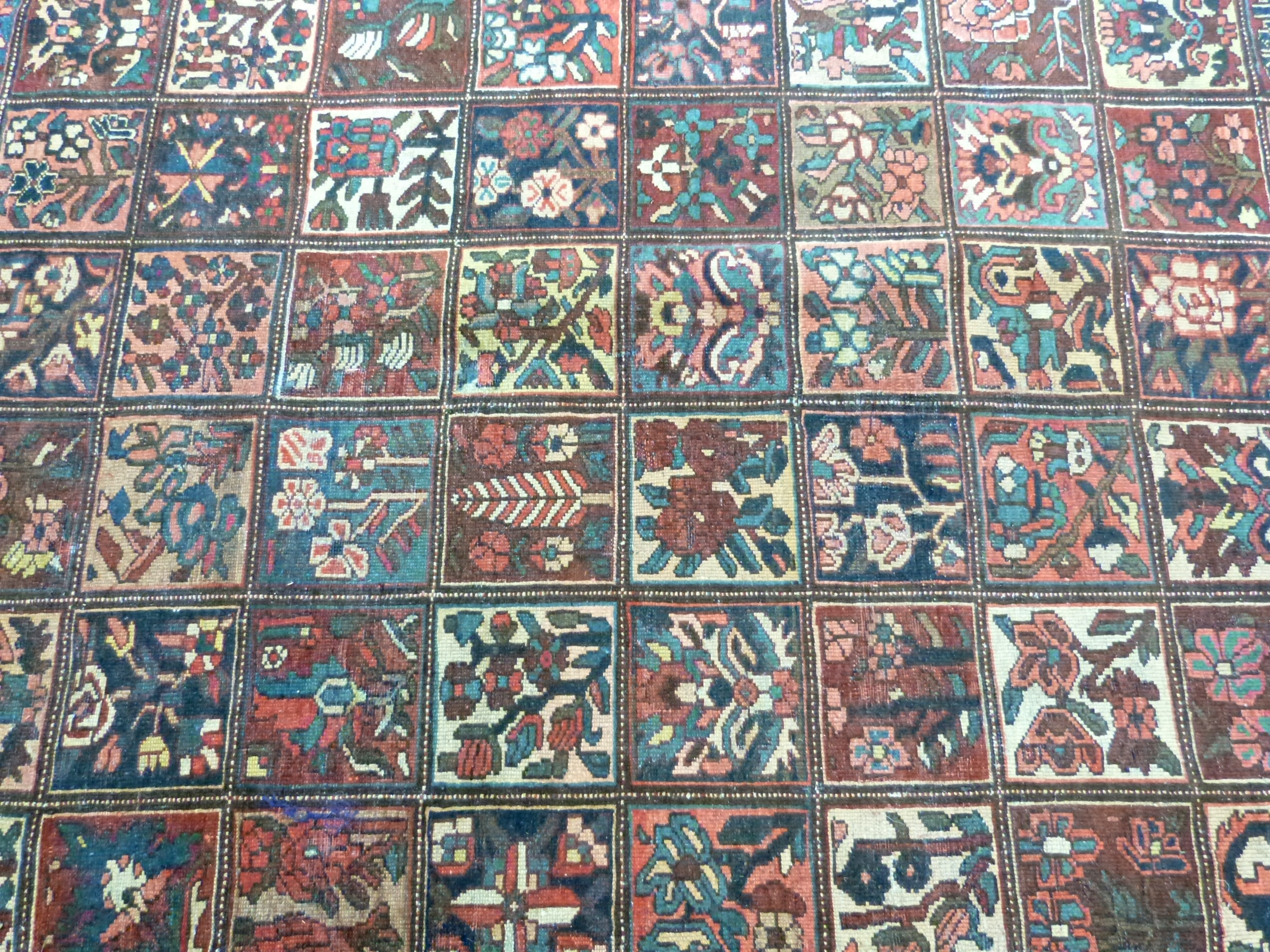 Vintage Persian Baktia Carpet, with all-over panelled design 260cm x 167cm approximately - Image 3 of 7
