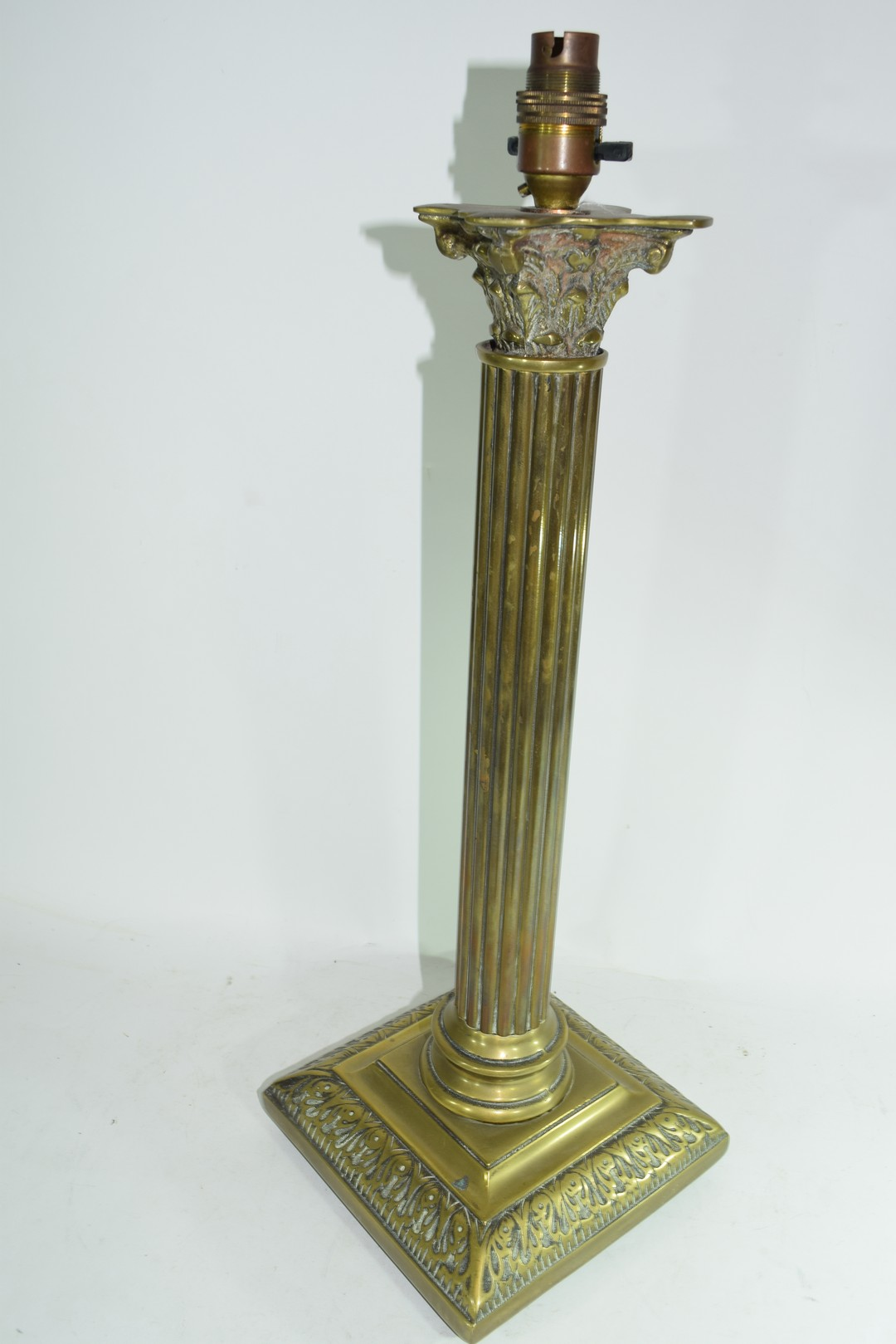 Brass table lamp - Image 3 of 4