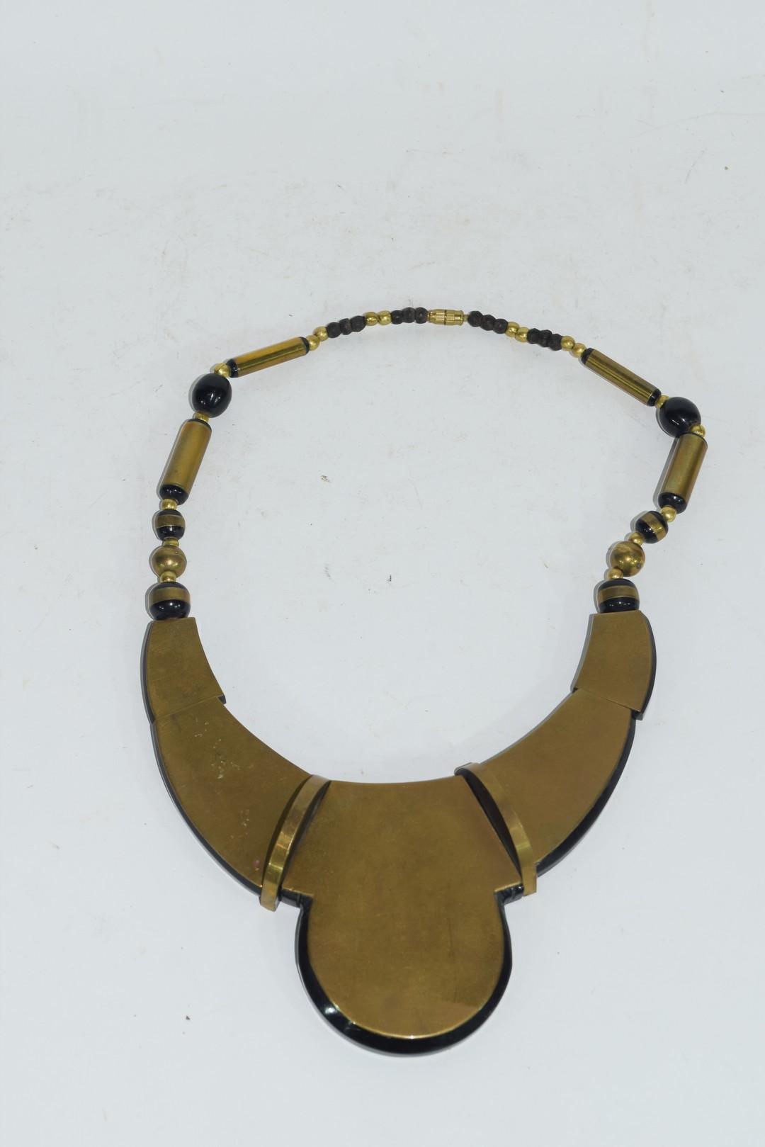 Tortoiseshell style Art Deco necklace