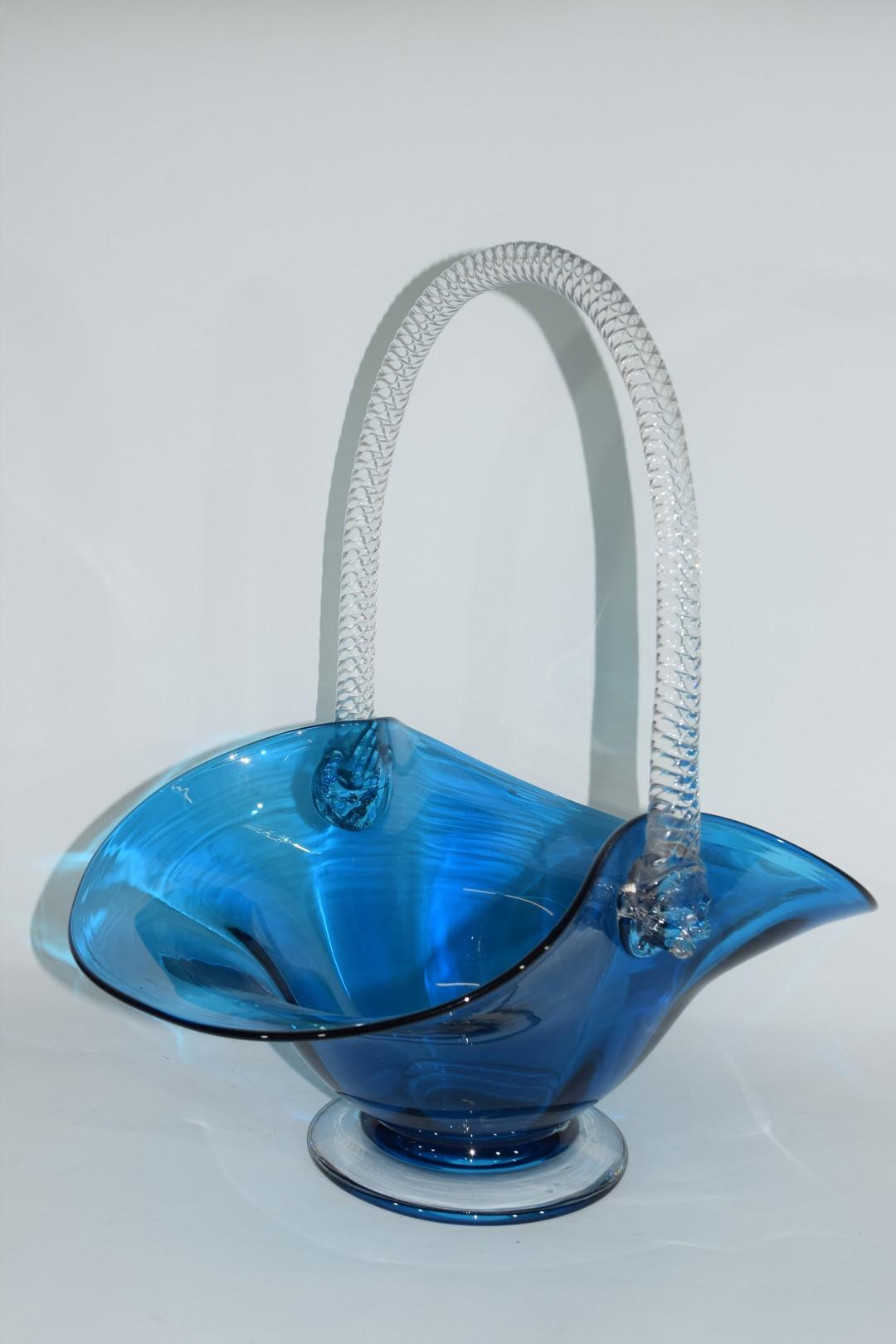 Large glass basket