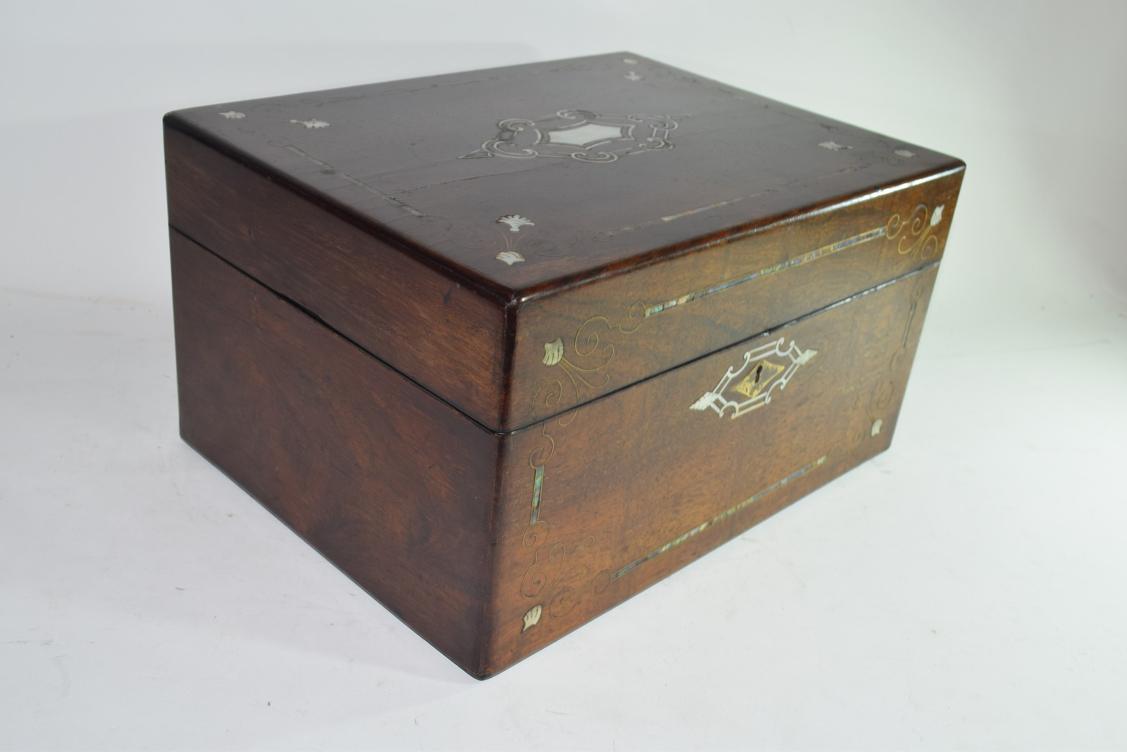 Late Victorian rosewood and mother of pearl - Image 3 of 7