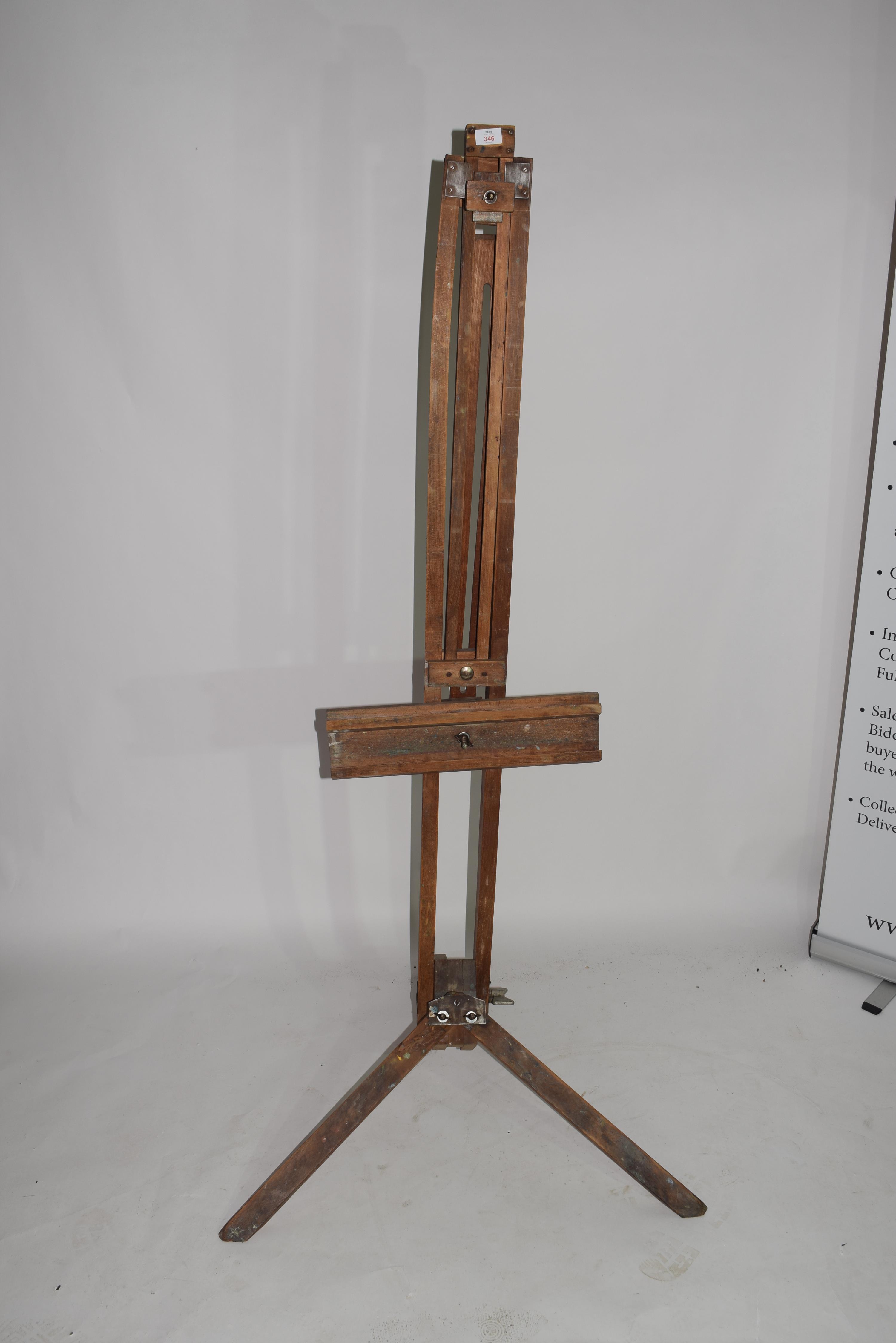 Folding wooden artists easel