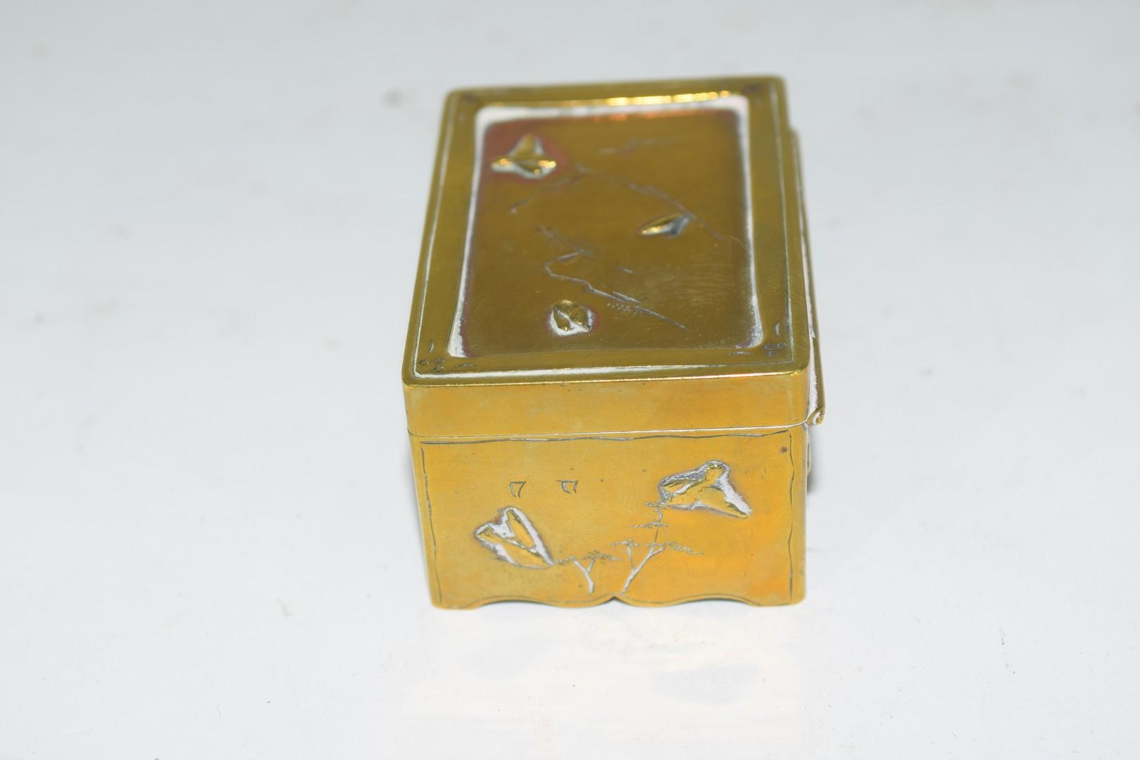 Small Chinese brass box - Image 2 of 6