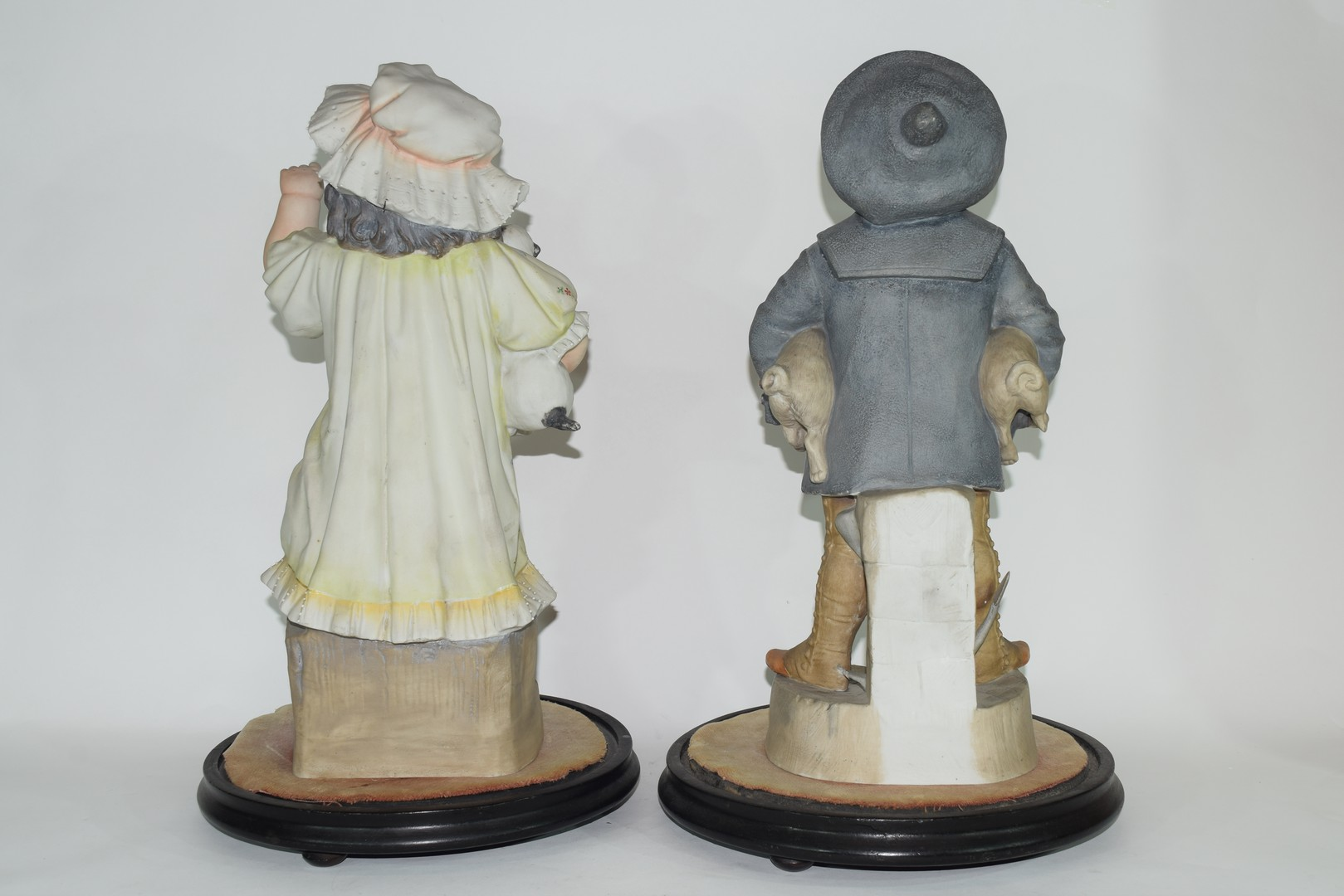 Pair of late 19th century Continental bisque figures of a boy and girl - Image 3 of 4