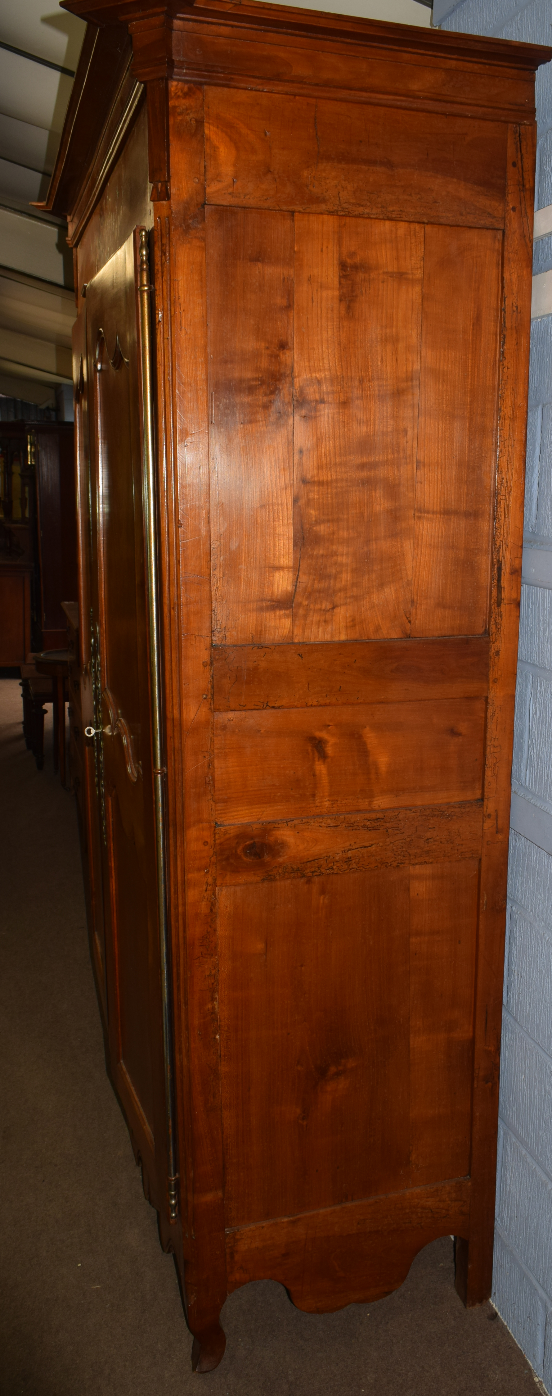 Large inlaid armoire, width approx 140cm Condition: Appears structurally sound^ minor splitting to - Image 5 of 5