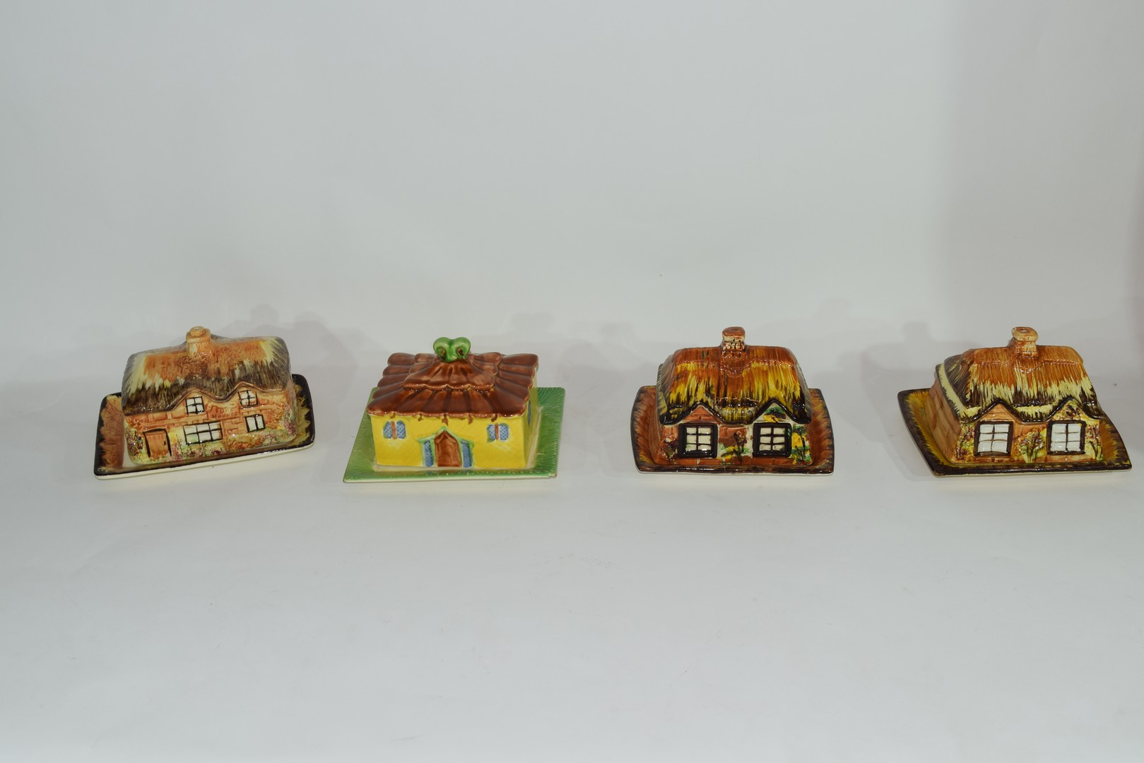Group of mid-20th century cottage style cheese dish and butter dishes - Image 4 of 5