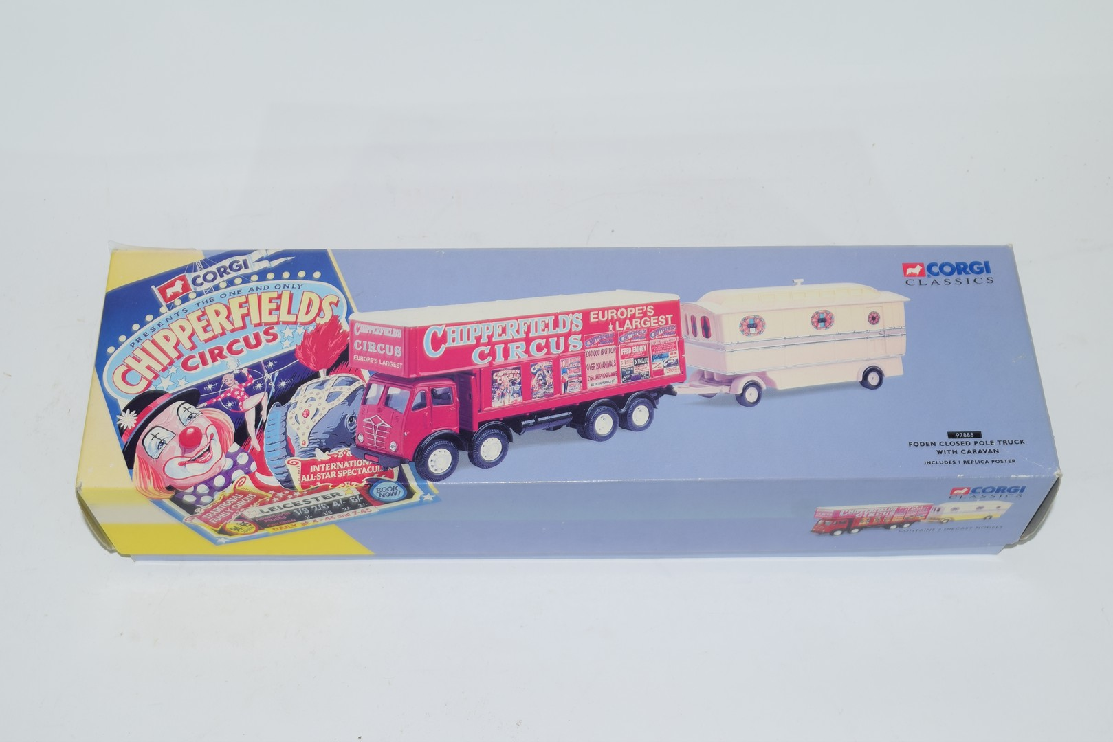 Corgi boxed model of a Chipperfields Circus lorry and caravan No 97888