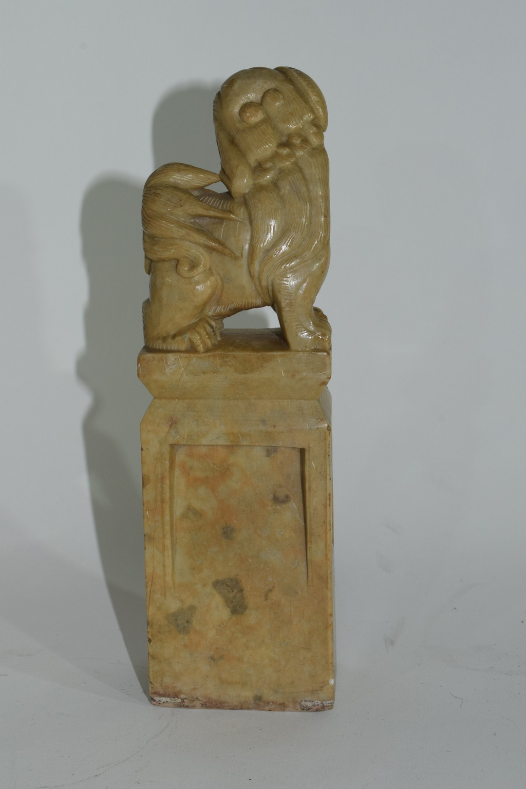 Oriental soapstone figure with a dog of Fo - Image 3 of 6