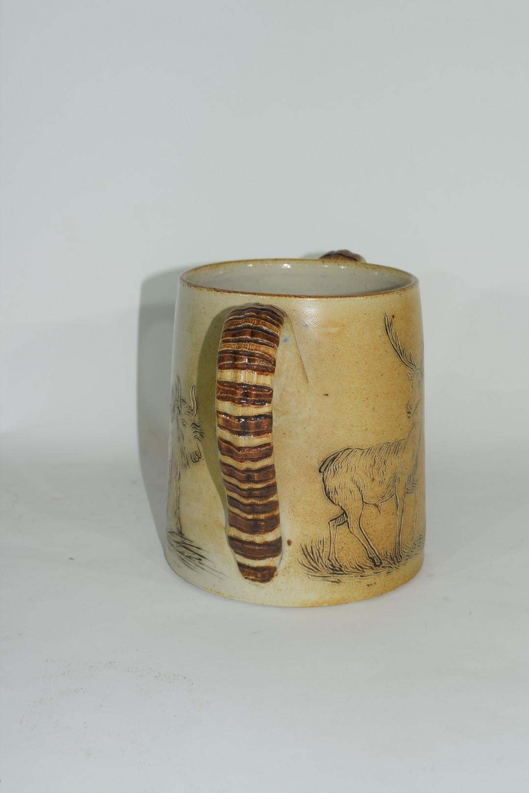 Smith & Co salt glazed two handled mug or tyg - Image 4 of 6