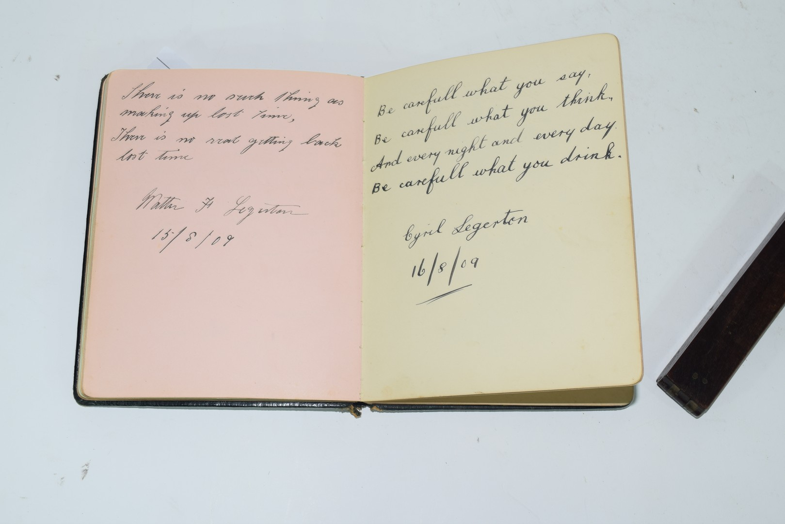 Early 20th century autograph book - Image 3 of 8
