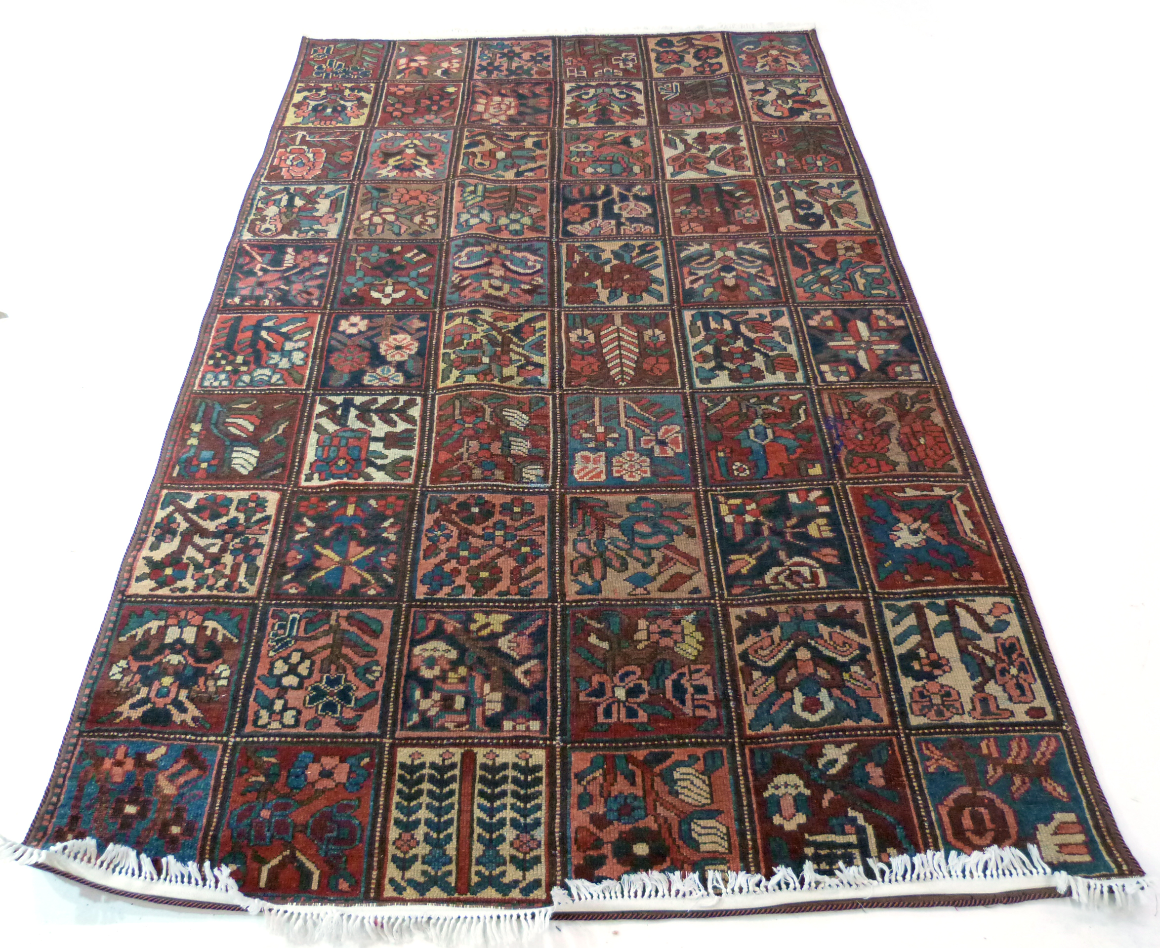 Vintage Persian Baktia Carpet, with all-over panelled design 260cm x 167cm approximately - Image 2 of 7
