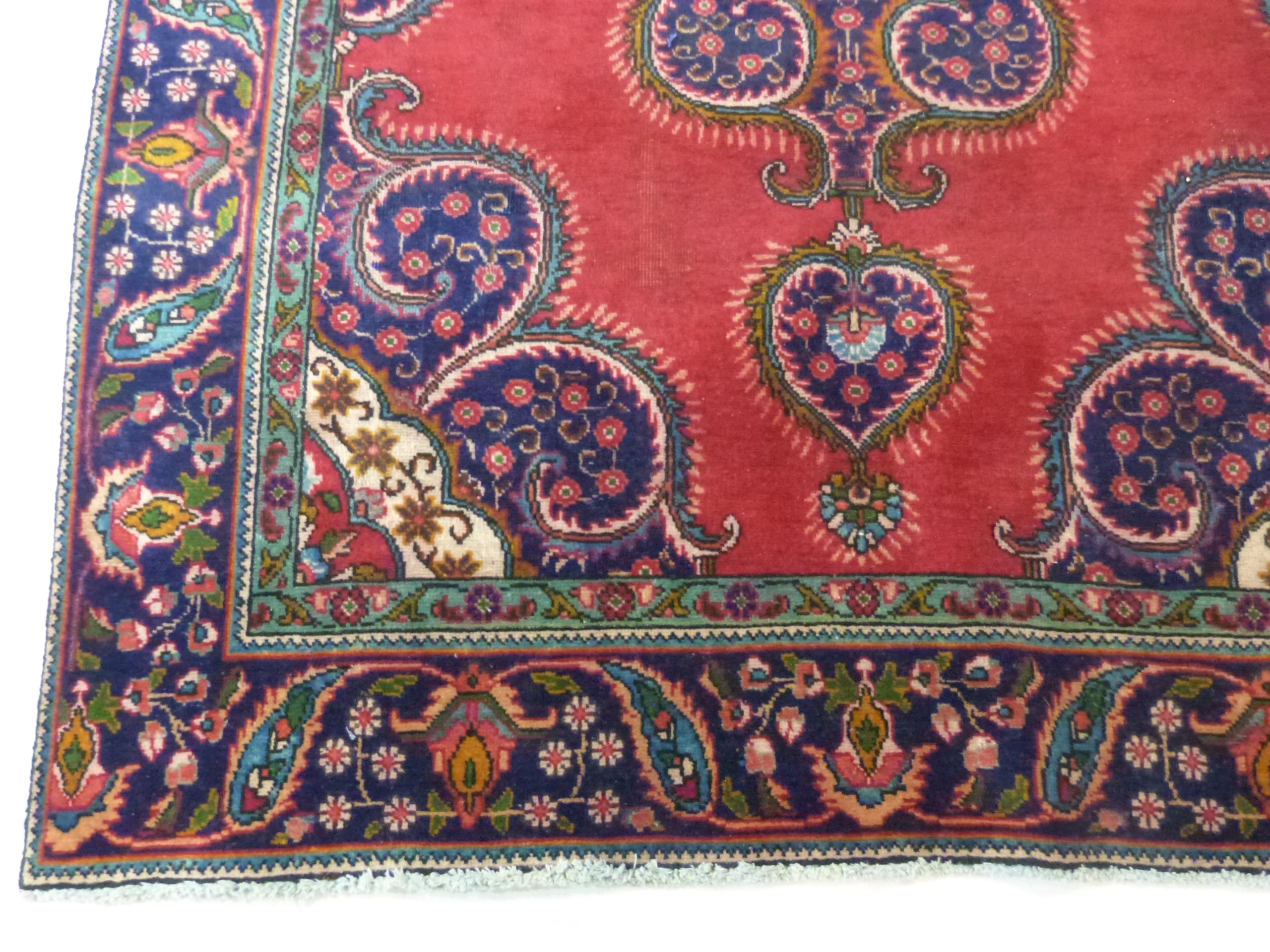 Deep ground thick pile Persian Narouan Carpet,decorated with various motifs & symbols 276cm x - Image 3 of 9