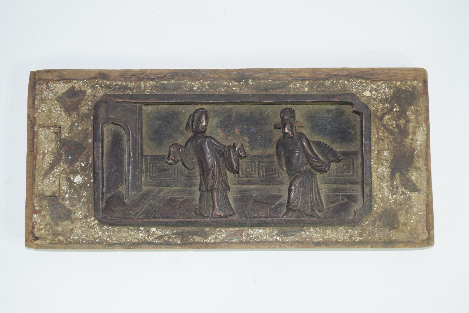 Group of seven Oriental wooden panels - Image 6 of 16