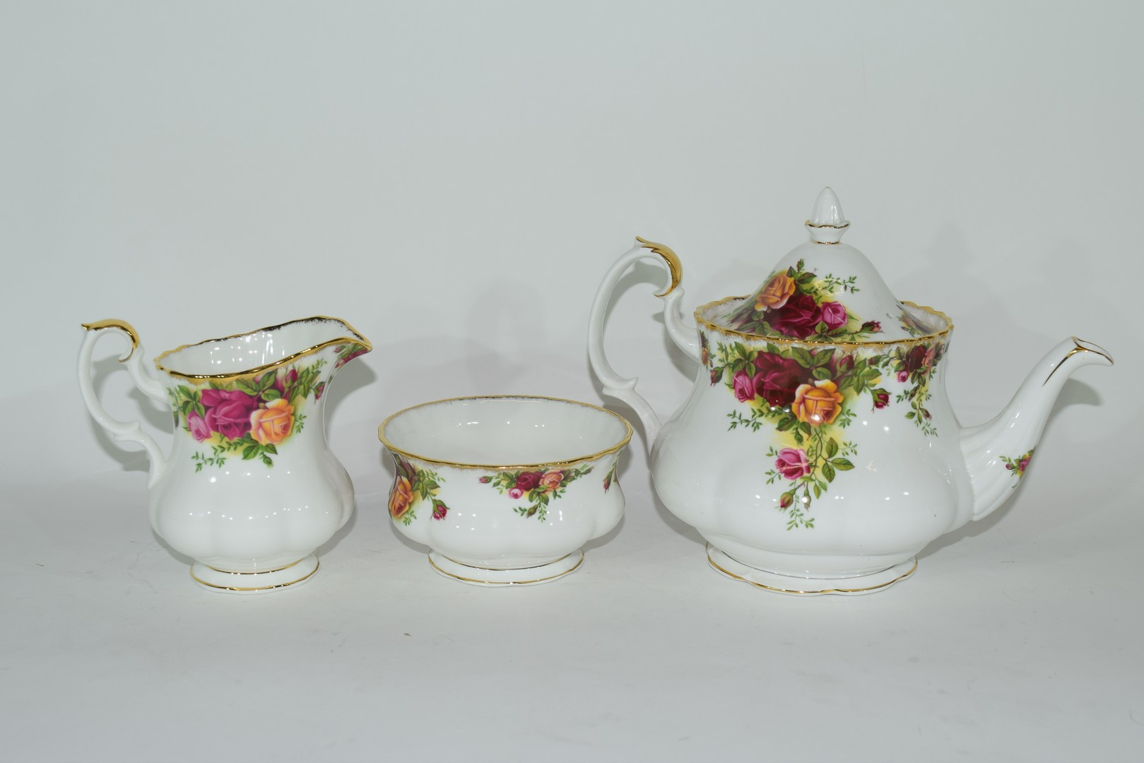 Royal Albert tea set in the Old Country Roses pattern