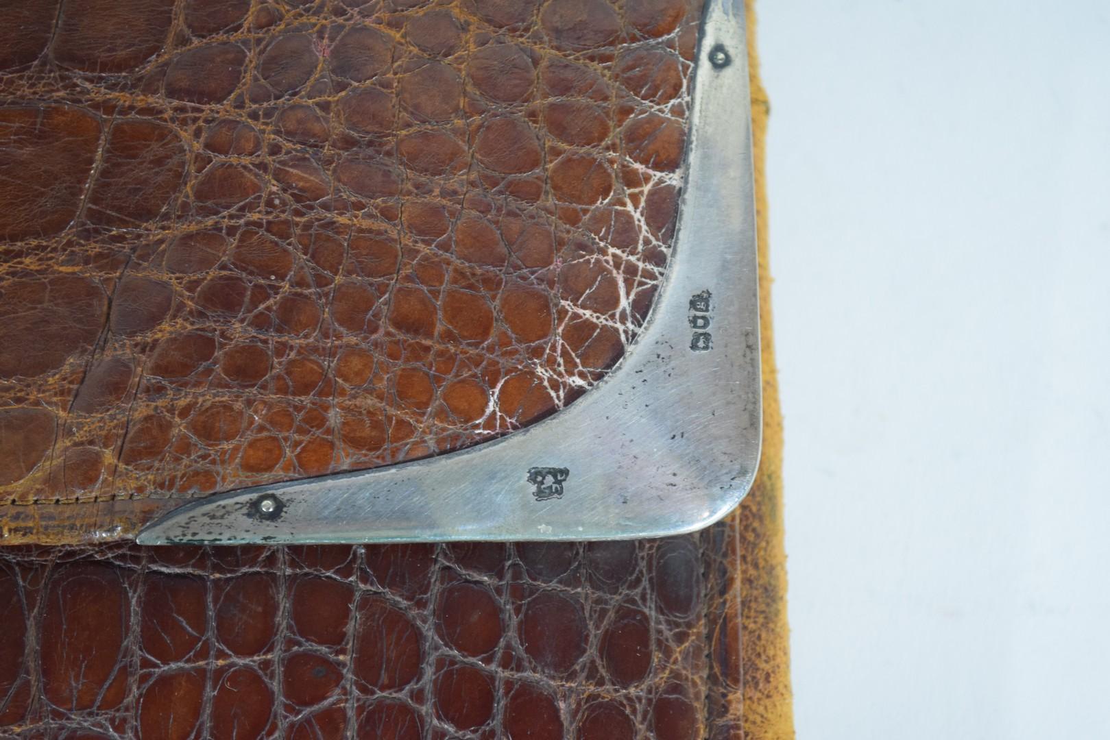 Crocodile skin attache case - Image 5 of 6