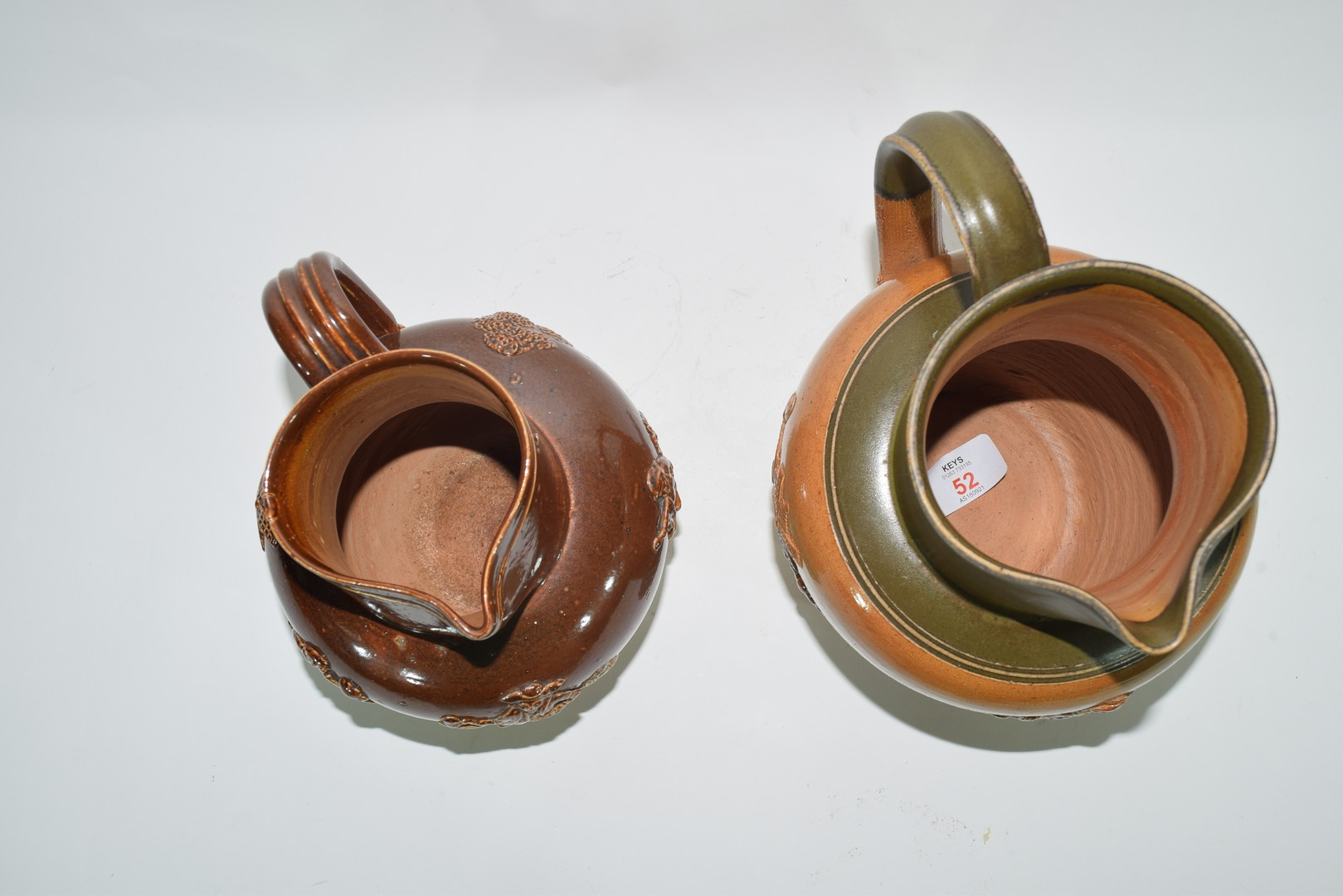 Doulton Lambeth brown harvest ware jug and one other - Image 5 of 8