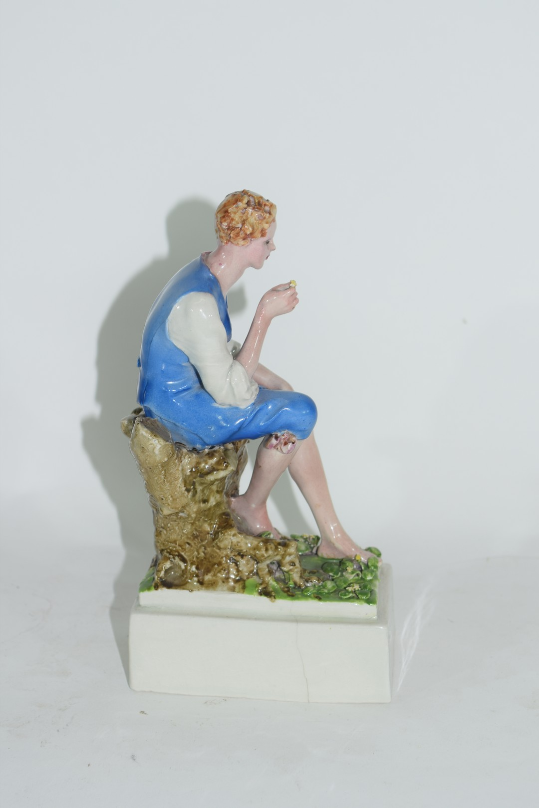 Chelsea Pottery model of a young boy - Image 4 of 6