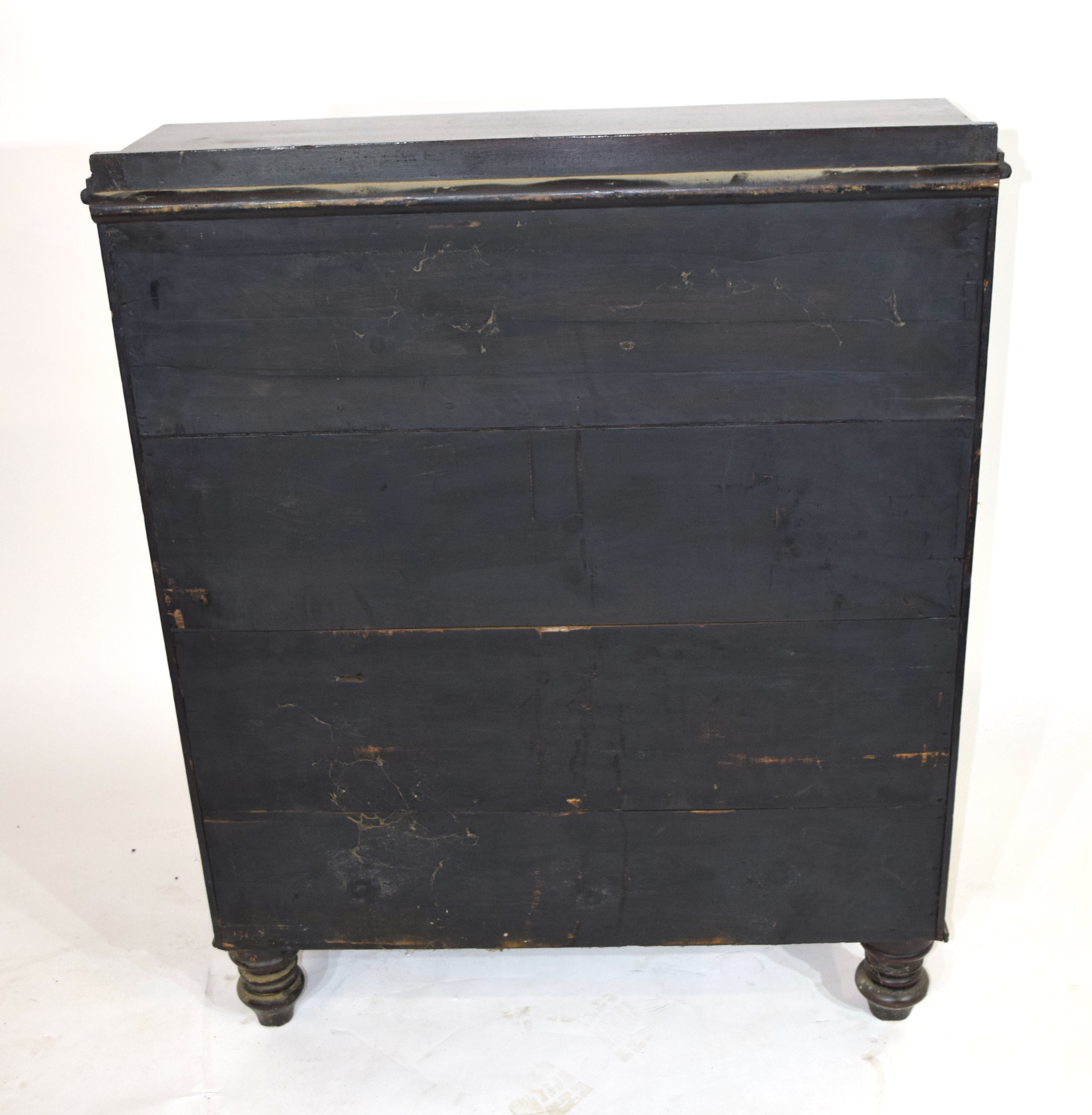 Late 19th/Early 20th century mahogany bureau with full front decorated with carved floral detail - Image 5 of 5