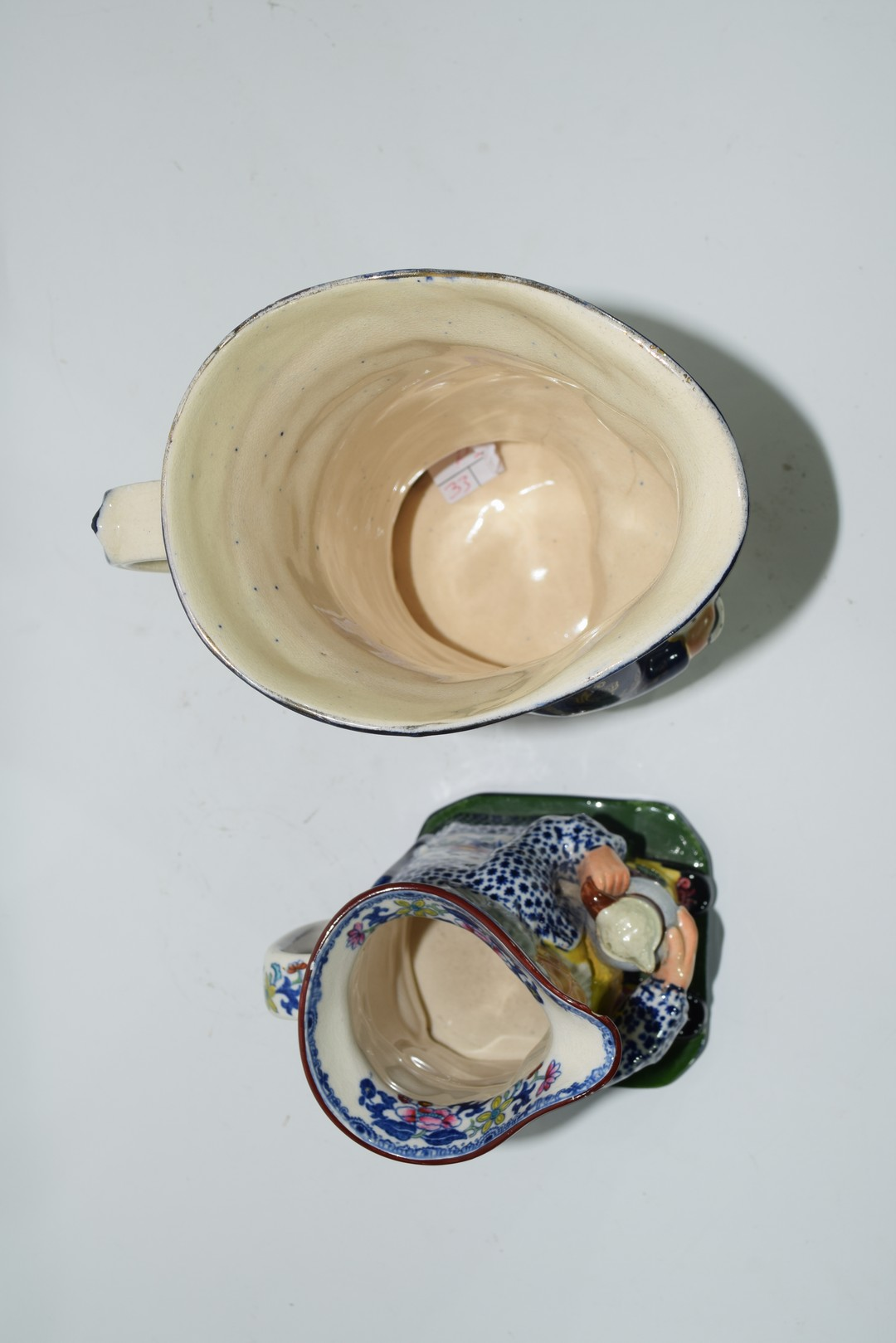 Two English pottery Staffordshire type Toby jugs - Image 6 of 6