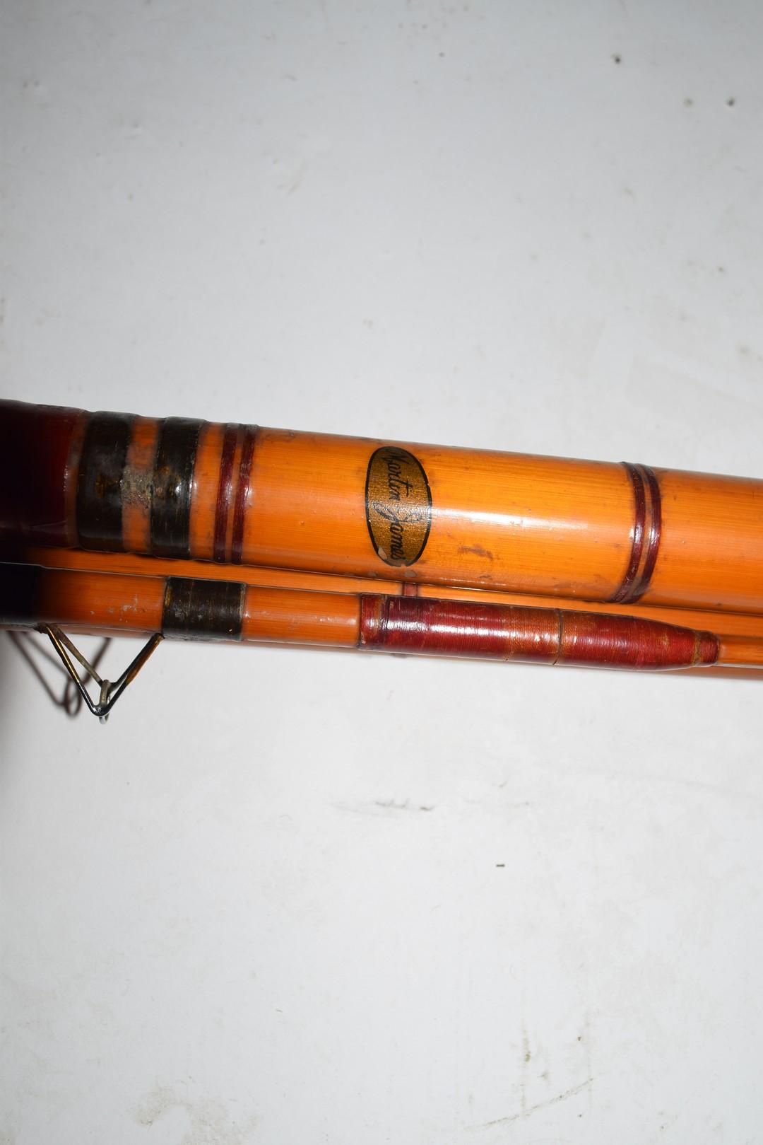 Vintage three-piece cane fishing rod - Image 2 of 4