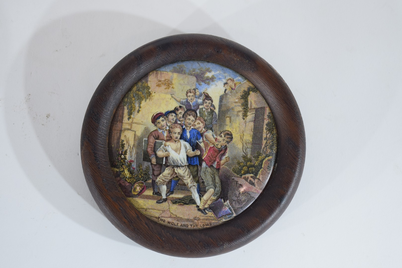 Group of pot lids on wooden mounts - Image 2 of 7