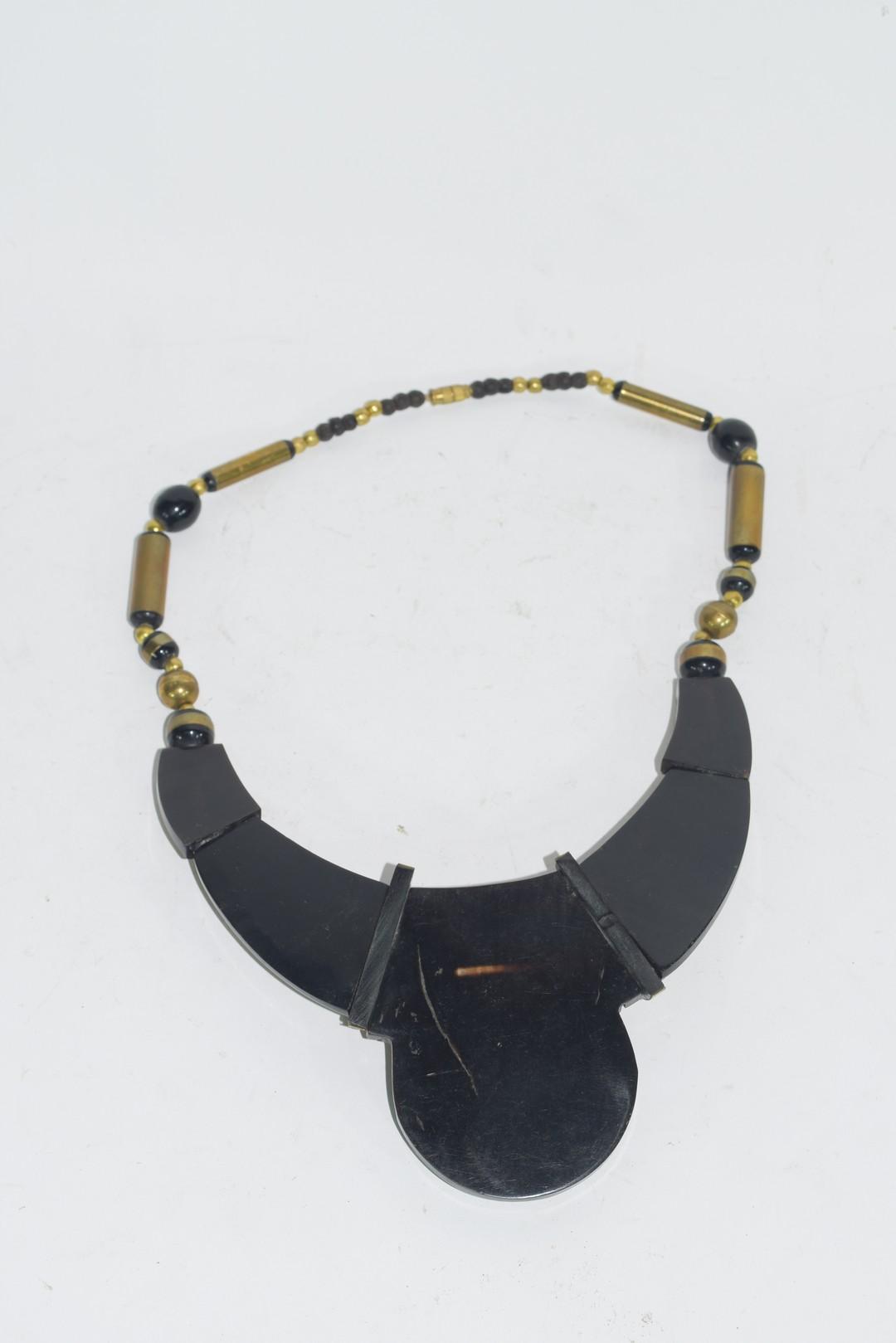 Tortoiseshell style Art Deco necklace - Image 2 of 3