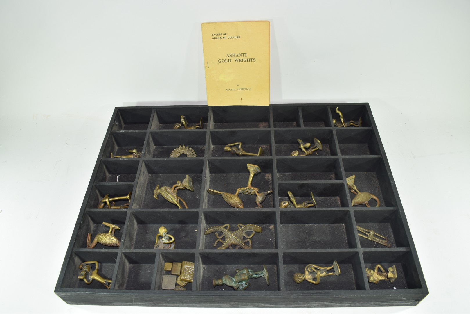 Collection of Ghanaian Ashanti figurative gold weights