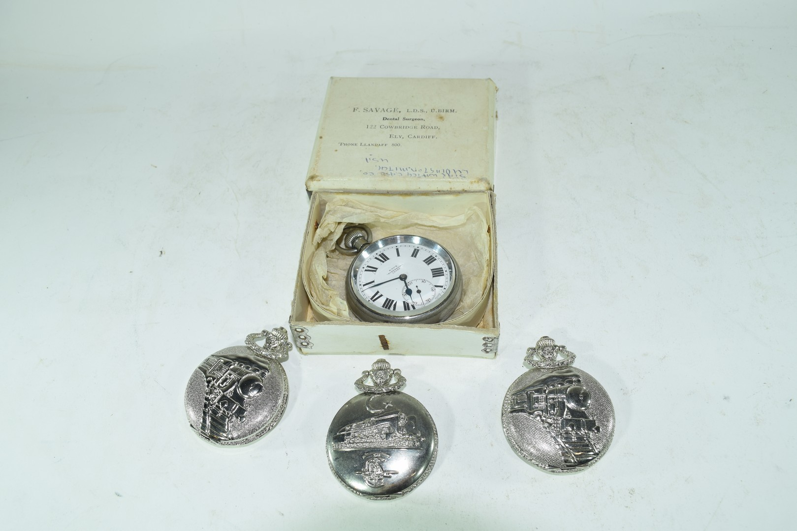 Cays screwback lever pocket watch