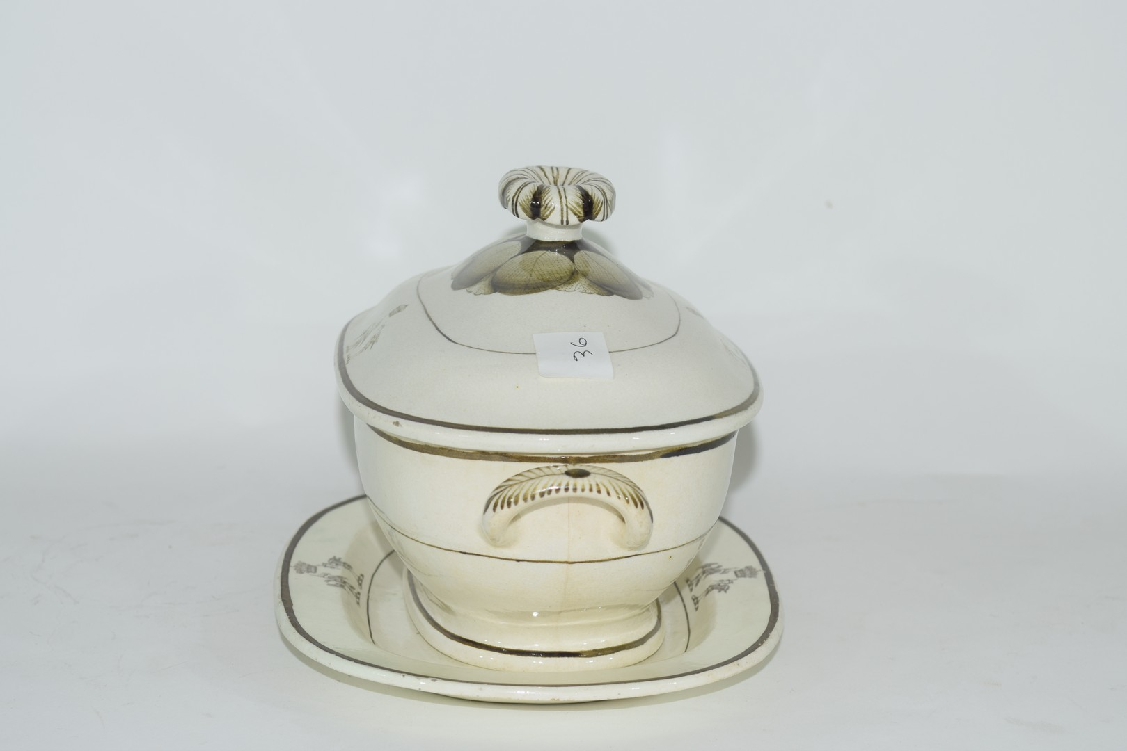 Late 18th century Rogers pearlware small tureen - Image 4 of 6
