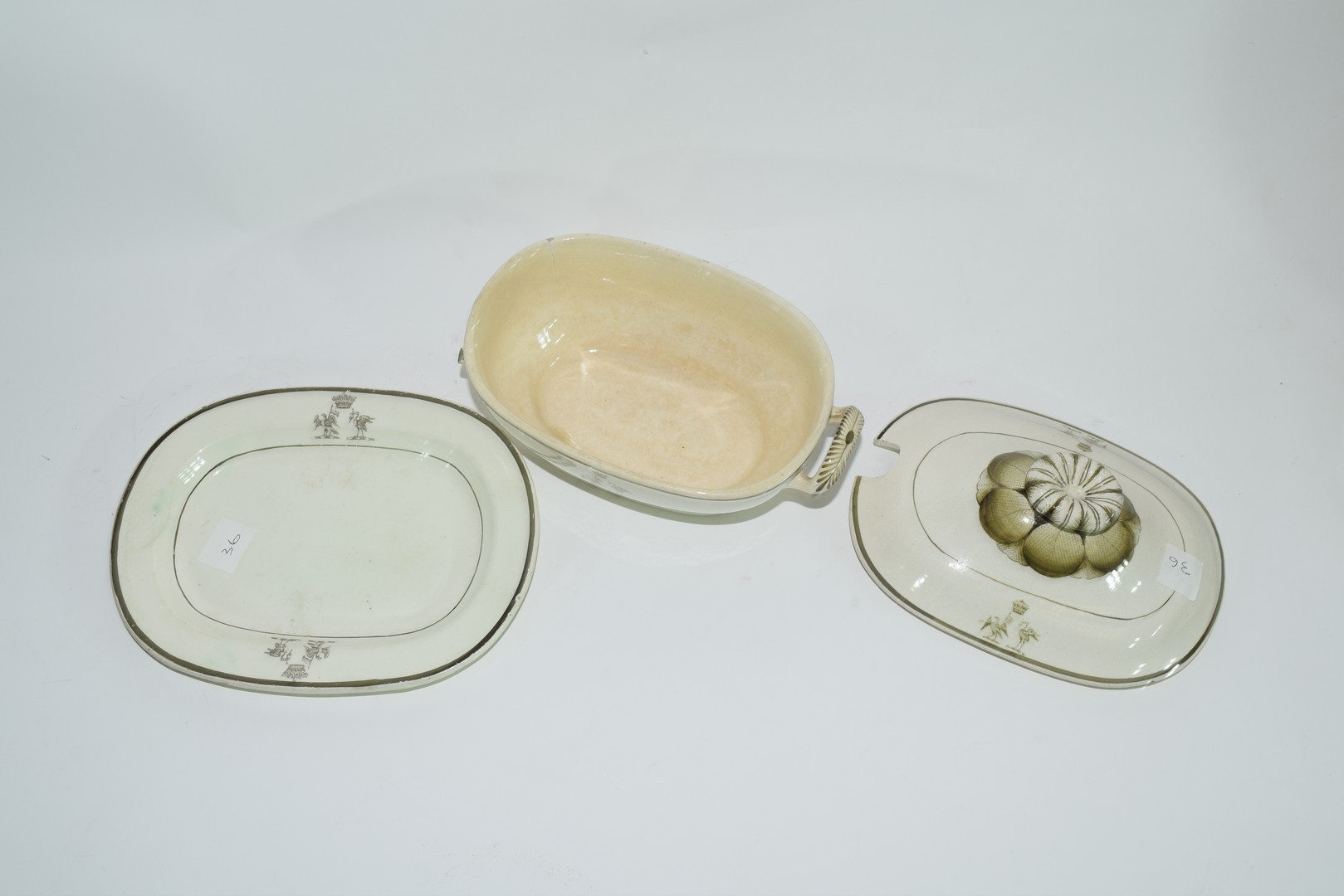 Late 18th century Rogers pearlware small tureen - Image 5 of 6