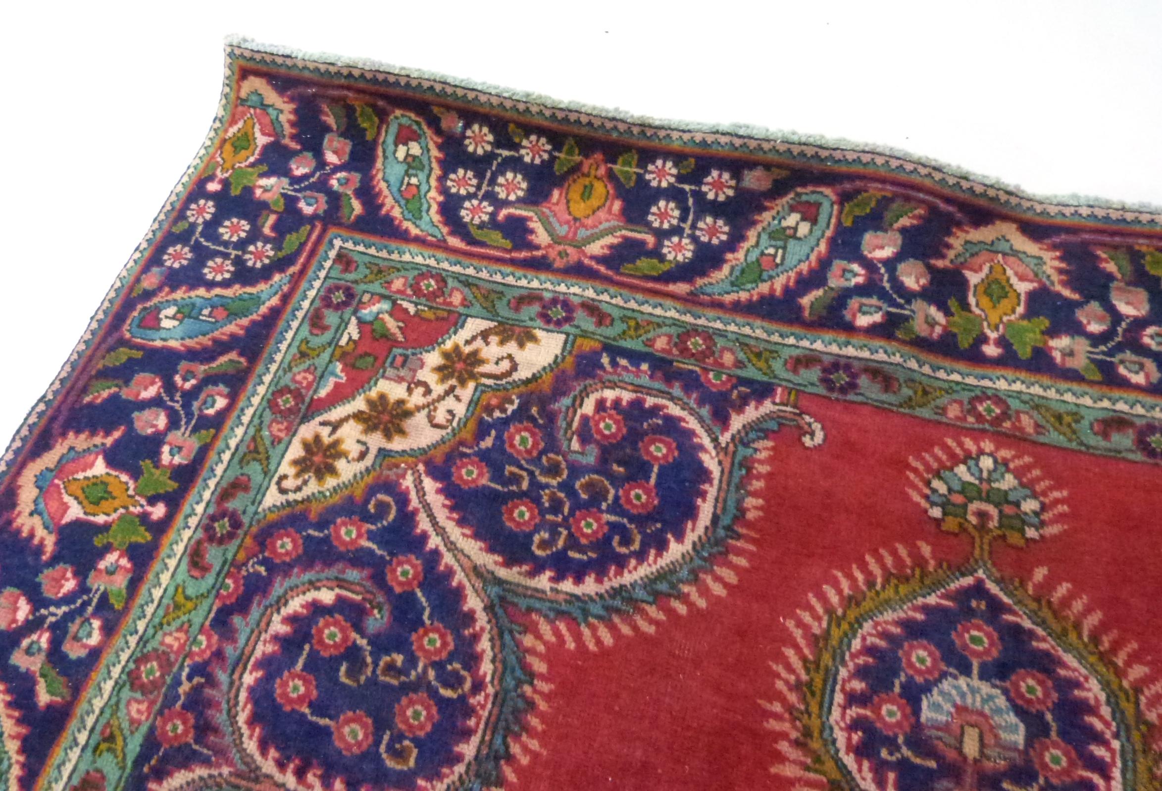 Deep ground thick pile Persian Narouan Carpet,decorated with various motifs & symbols 276cm x - Image 6 of 9