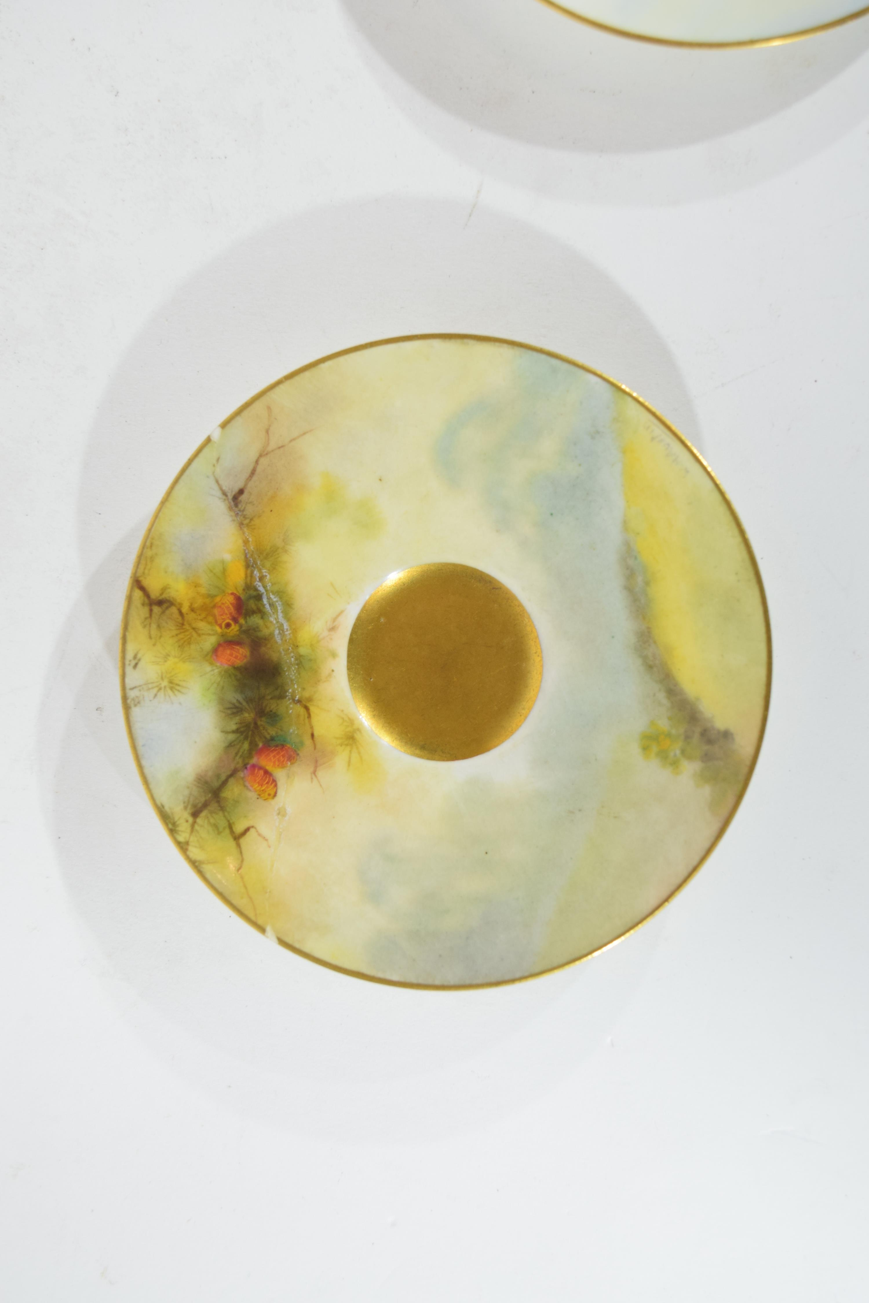Two Royal Worcester saucers - Image 7 of 9