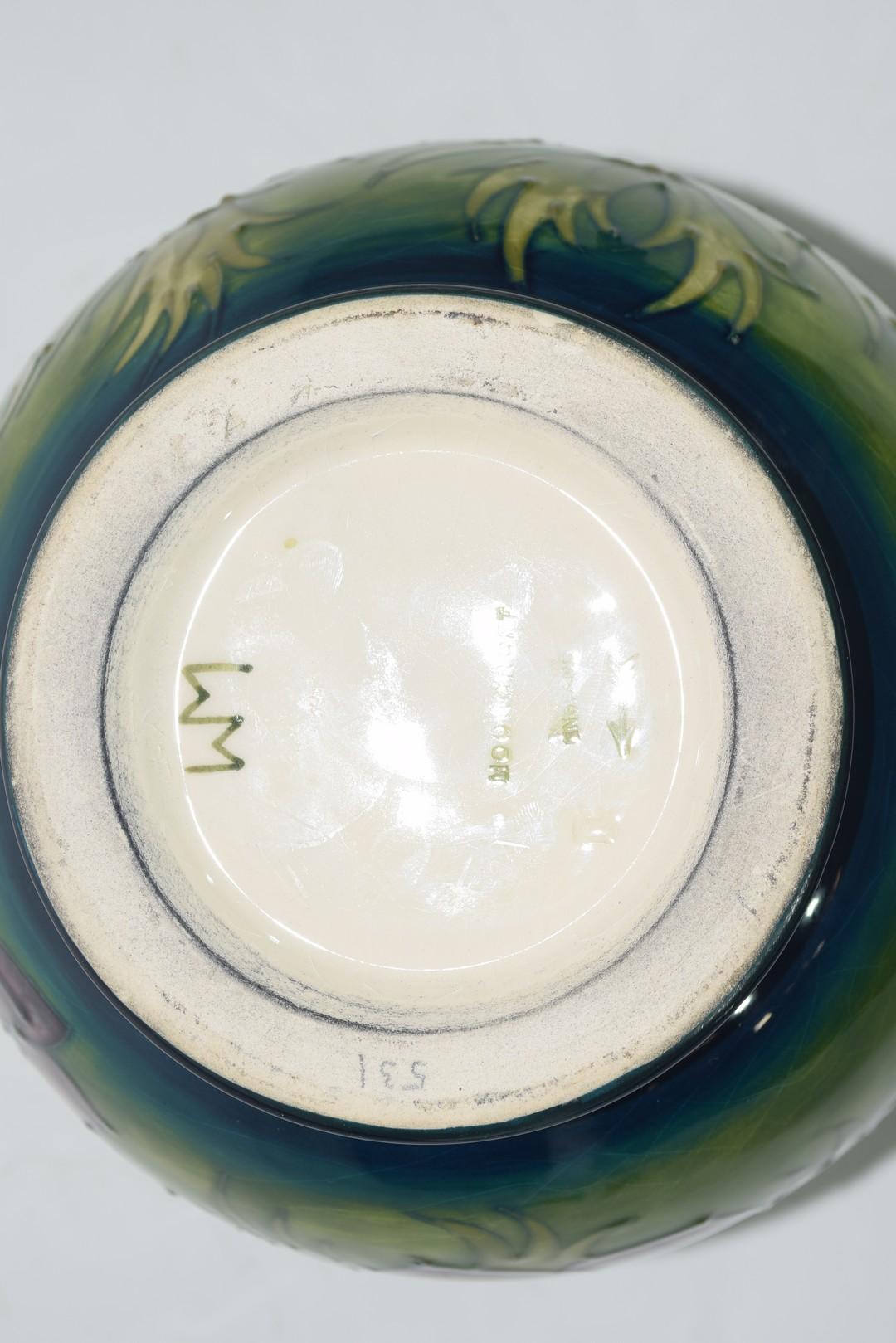 Globular Moorcroft vase - Image 7 of 8