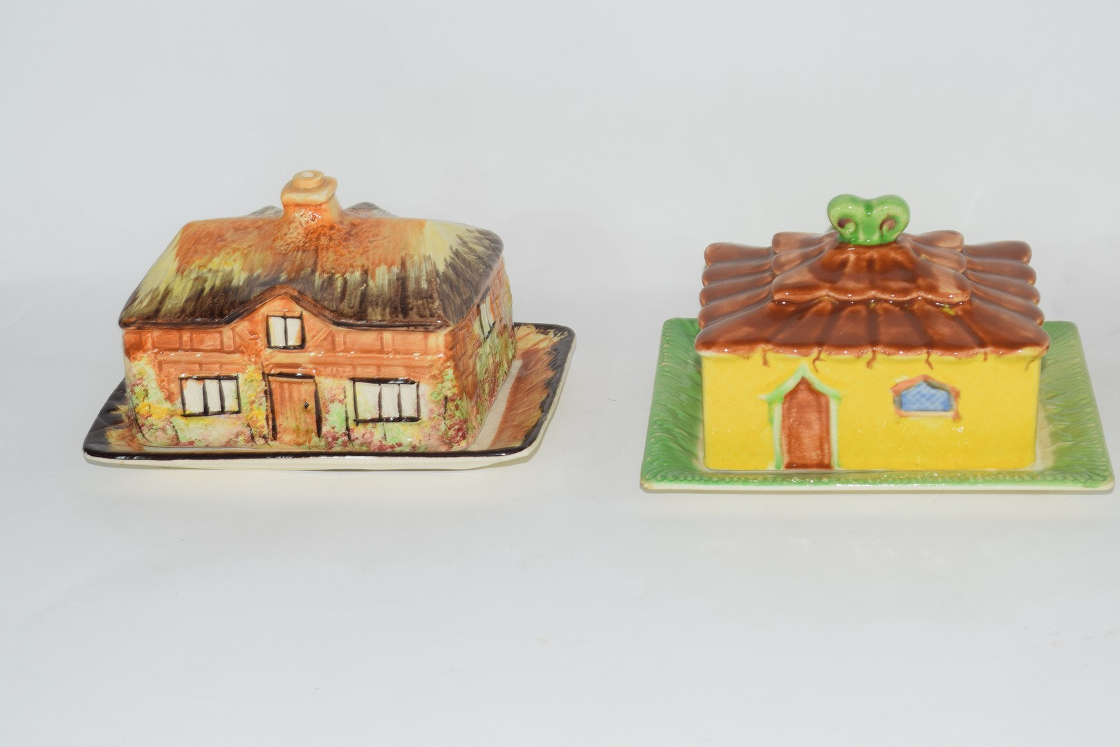 Group of mid-20th century cottage style cheese dish and butter dishes - Image 2 of 5
