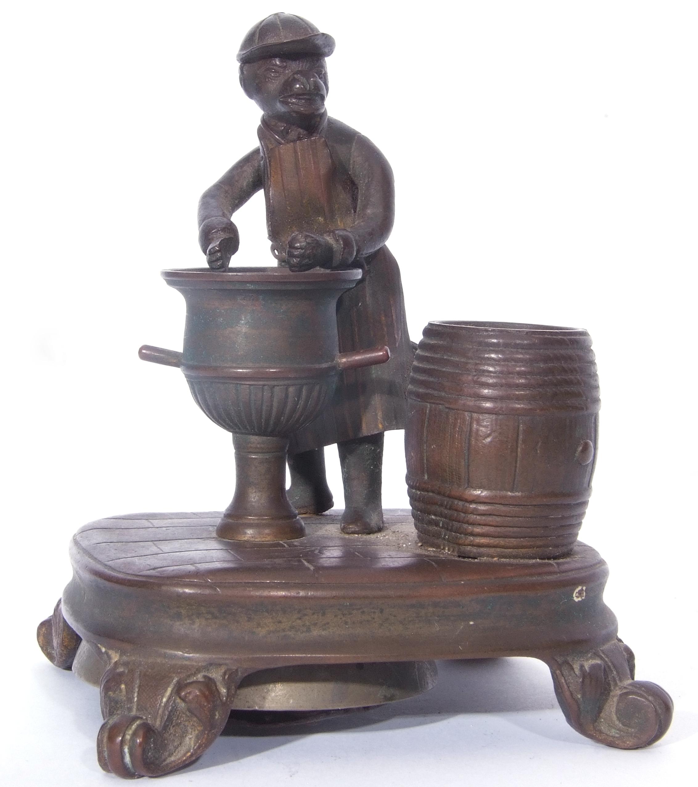 Antique bronze desk bell, a model of a monkey - Image 8 of 11