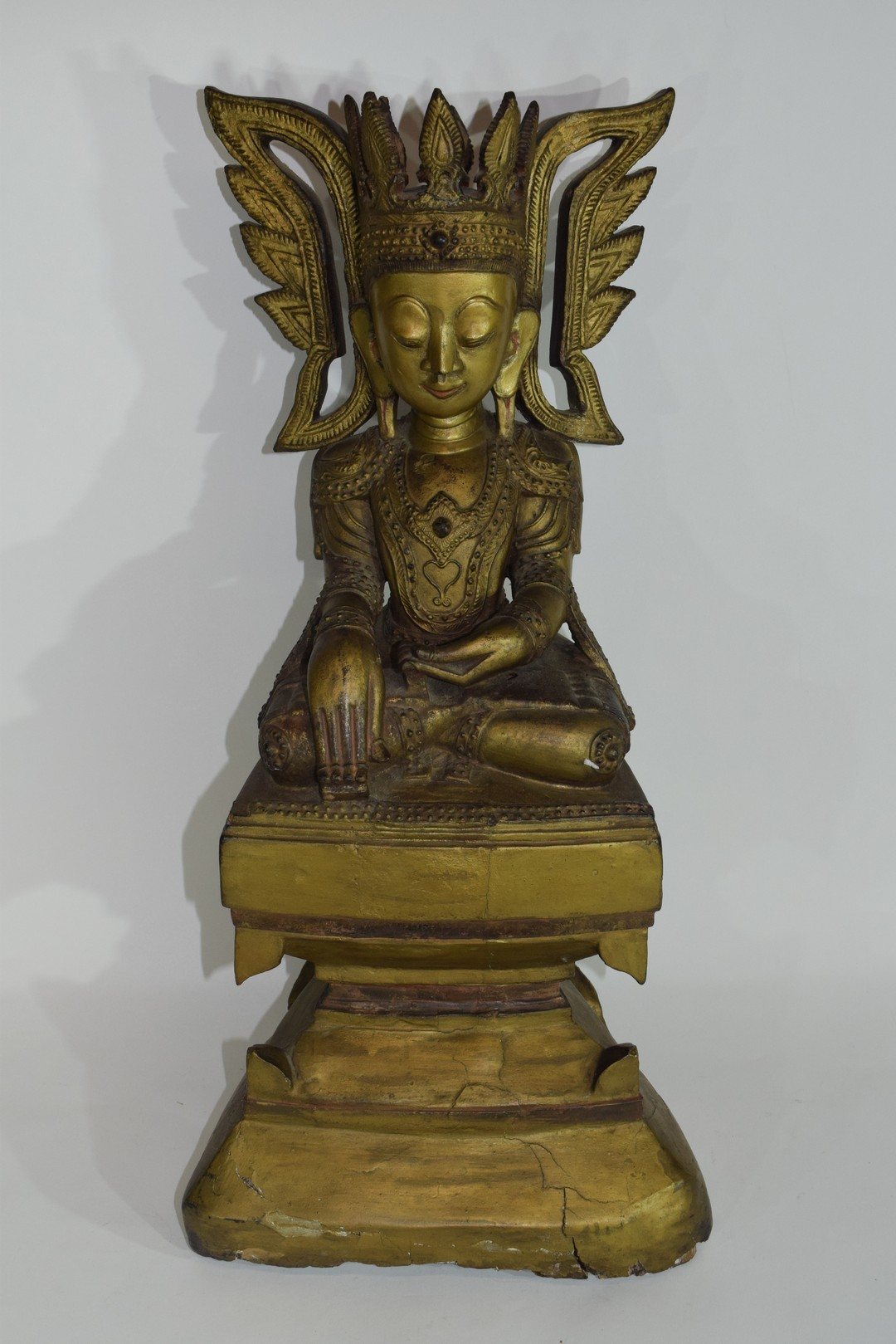 Wooden model of Maitreya - Image 3 of 8
