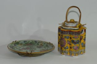 Small Cantonese porcelain dish