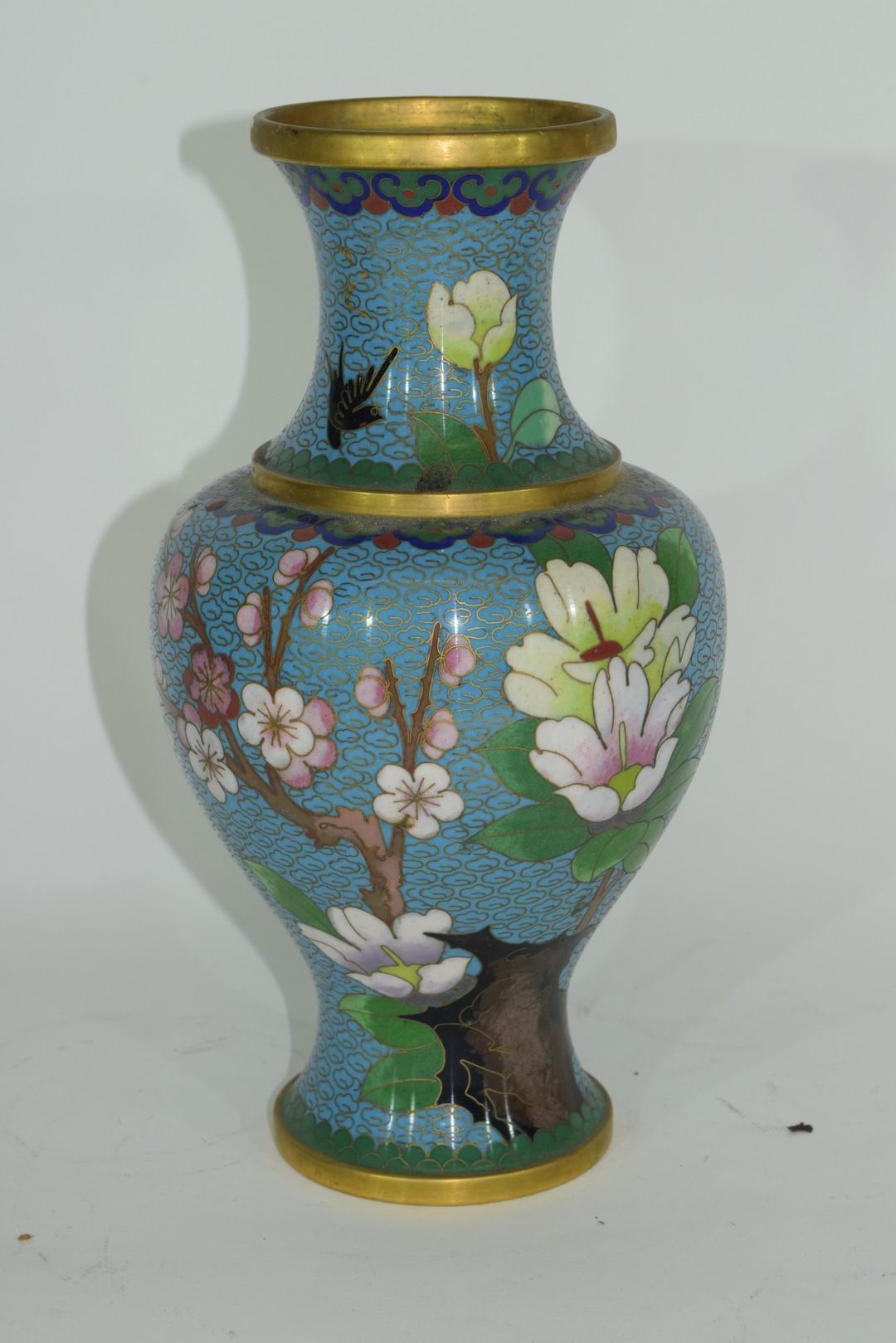 Cloisonne vase