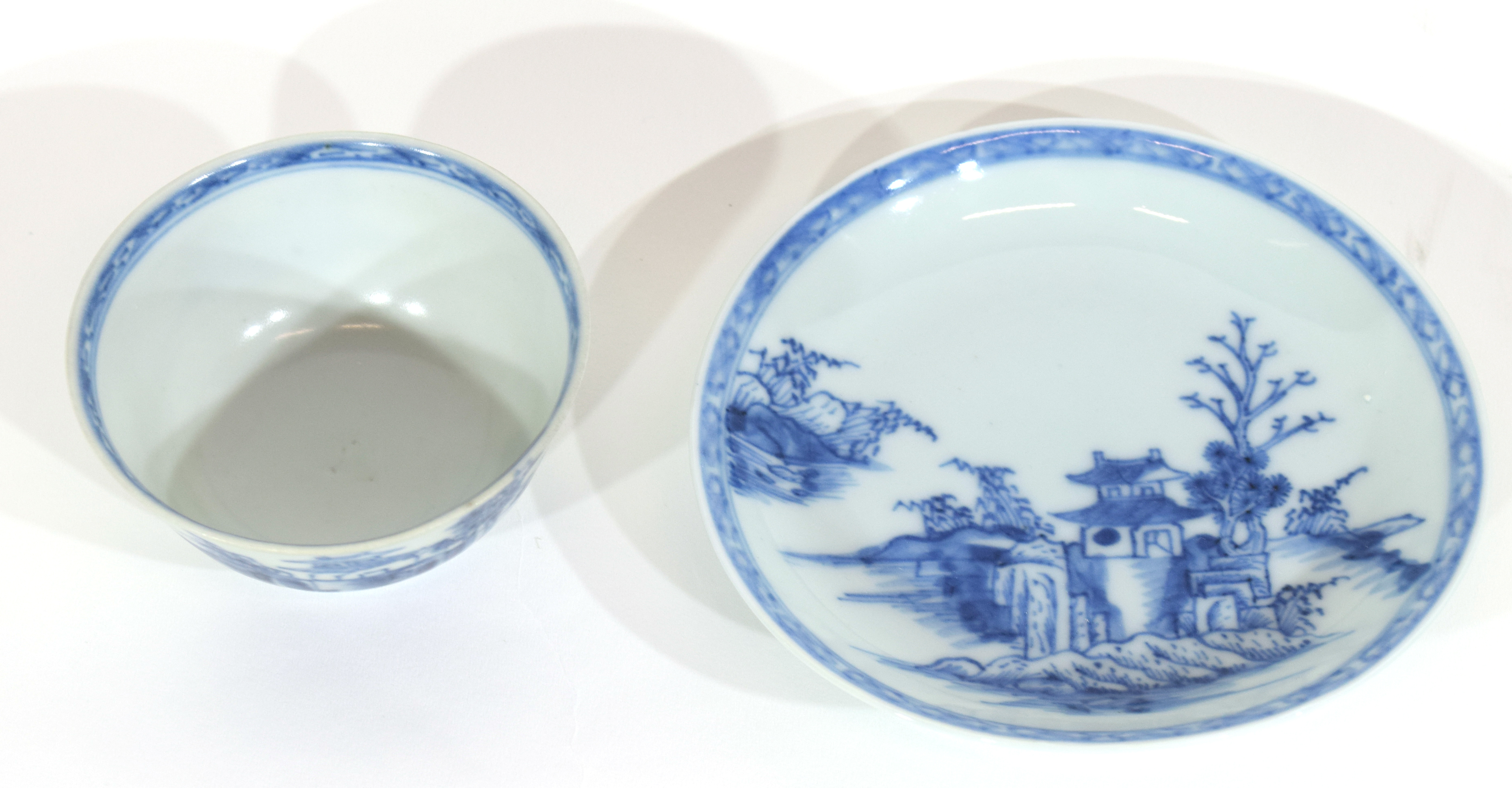 18th century Chinese porcelain Nanking Cargo tea bowl and saucer - Image 6 of 15